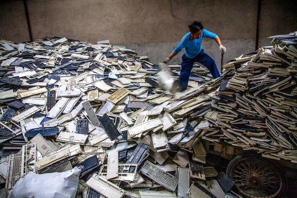 Хятадын электрон хаягдал боловсруулах үйл явц