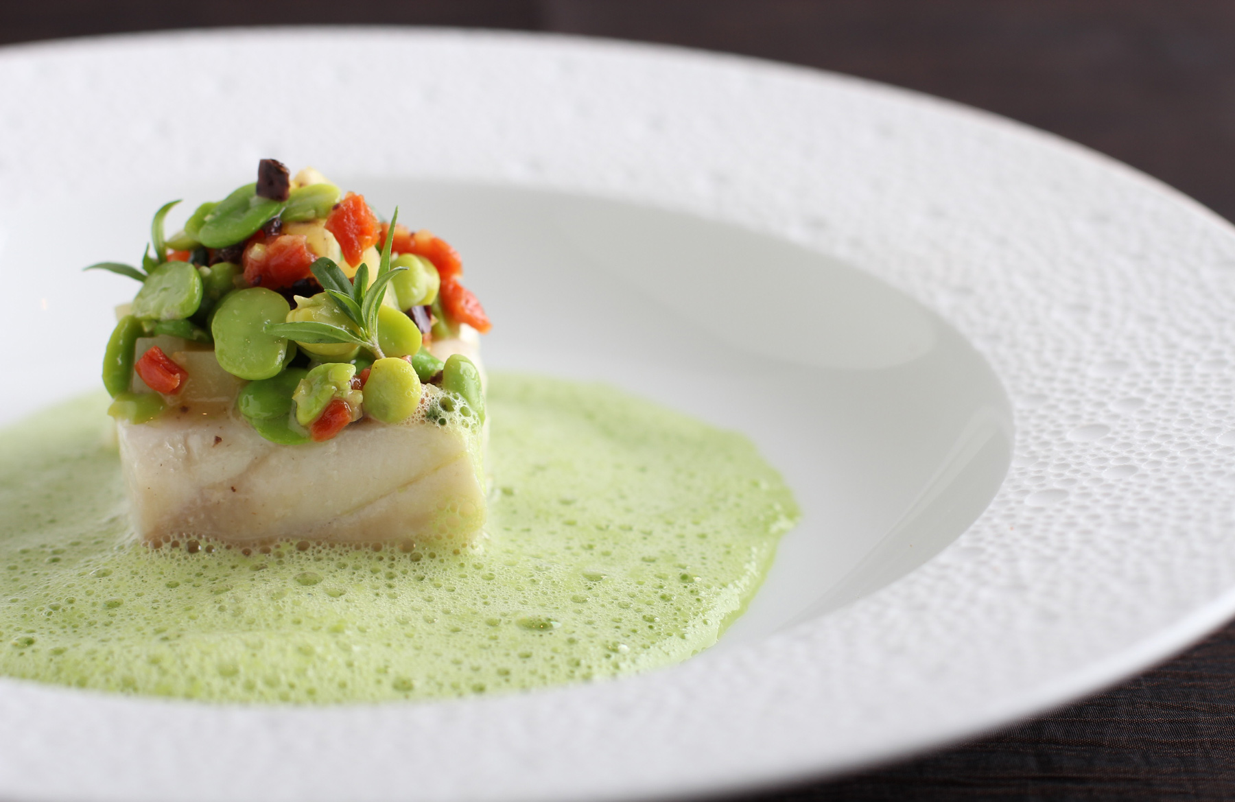 Halibut and Fava Bean