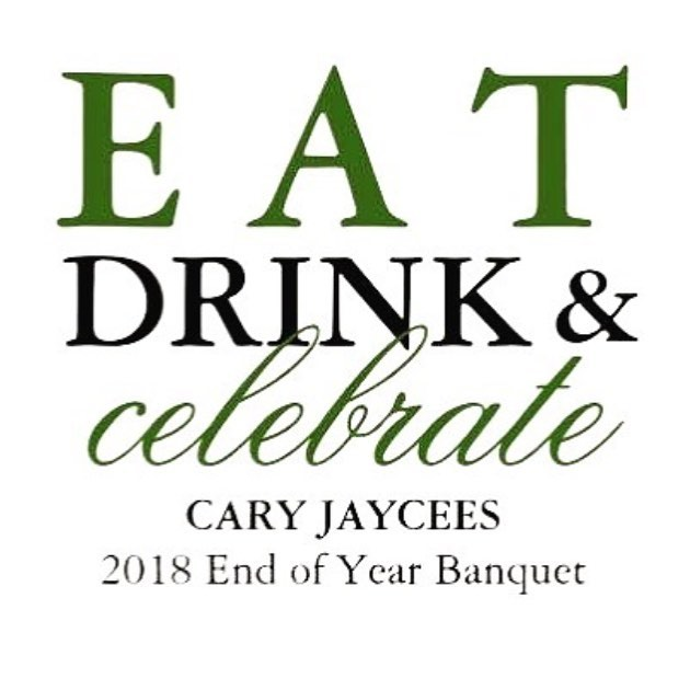 It's almost time! If you are attending our End of Year banquet be sure to let us know, info@caryjaycees.org, this event is free and open to anyone interested in the Jaycees! . . . . . . #carync #cary #leadership #communityovercompetition #civic #jaycees #give