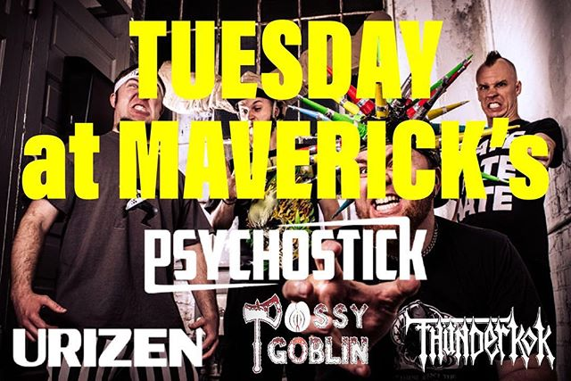 NEXT TUESDAY (JULY 31) AT @mavericksbar WE ARE OPENING FOR @psychostick WITH @urizenonline AND @p.goblin - the set is toight, our jorts are faaackin toight and we're only playing for 30 minutes so you don't even have to fake going to the bathroom for a super long time while we scream about doing cocaine off dudes butts. #toighttuesday