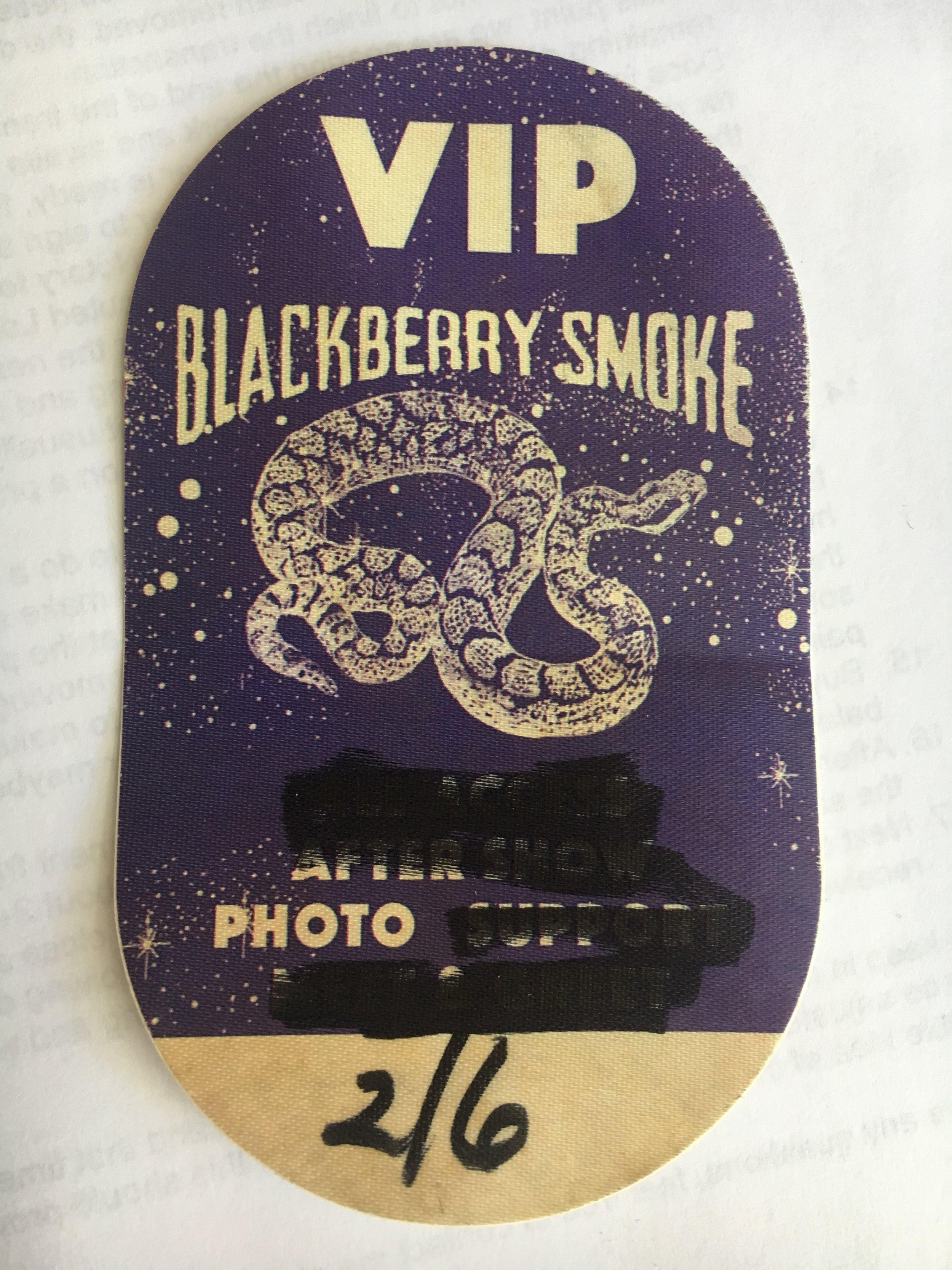 Blackberry Smoke pass.JPG