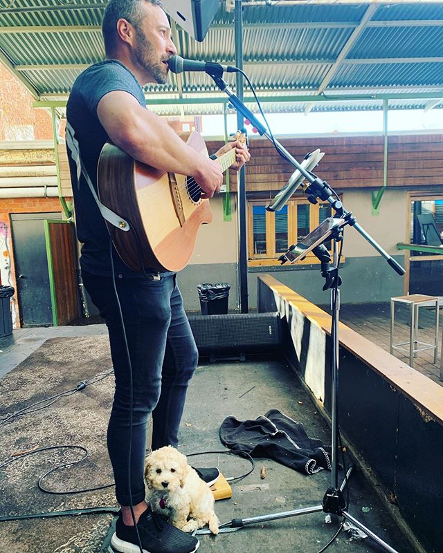 Paws and Pints @beerdeluxe_albury today. 🐶 🐾 🍺  #lukedewing #alburywodongalivemusic #lukedewingmusic #lukedewingduo
