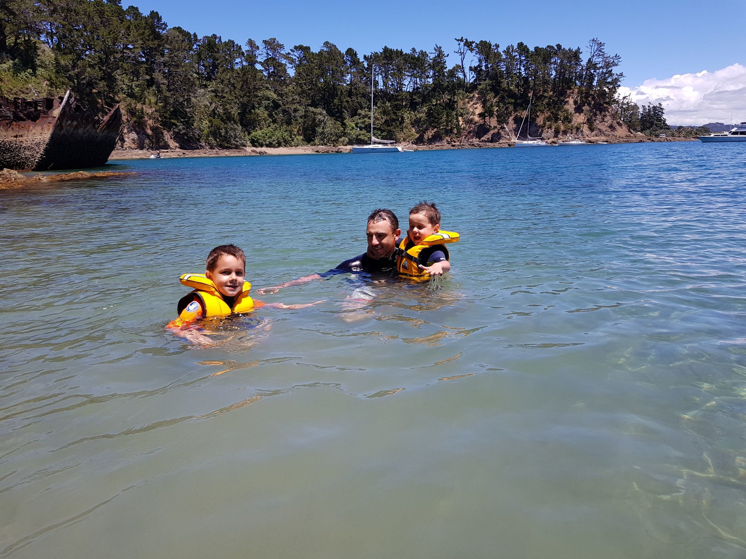 Family friendly swims at Kawau Island