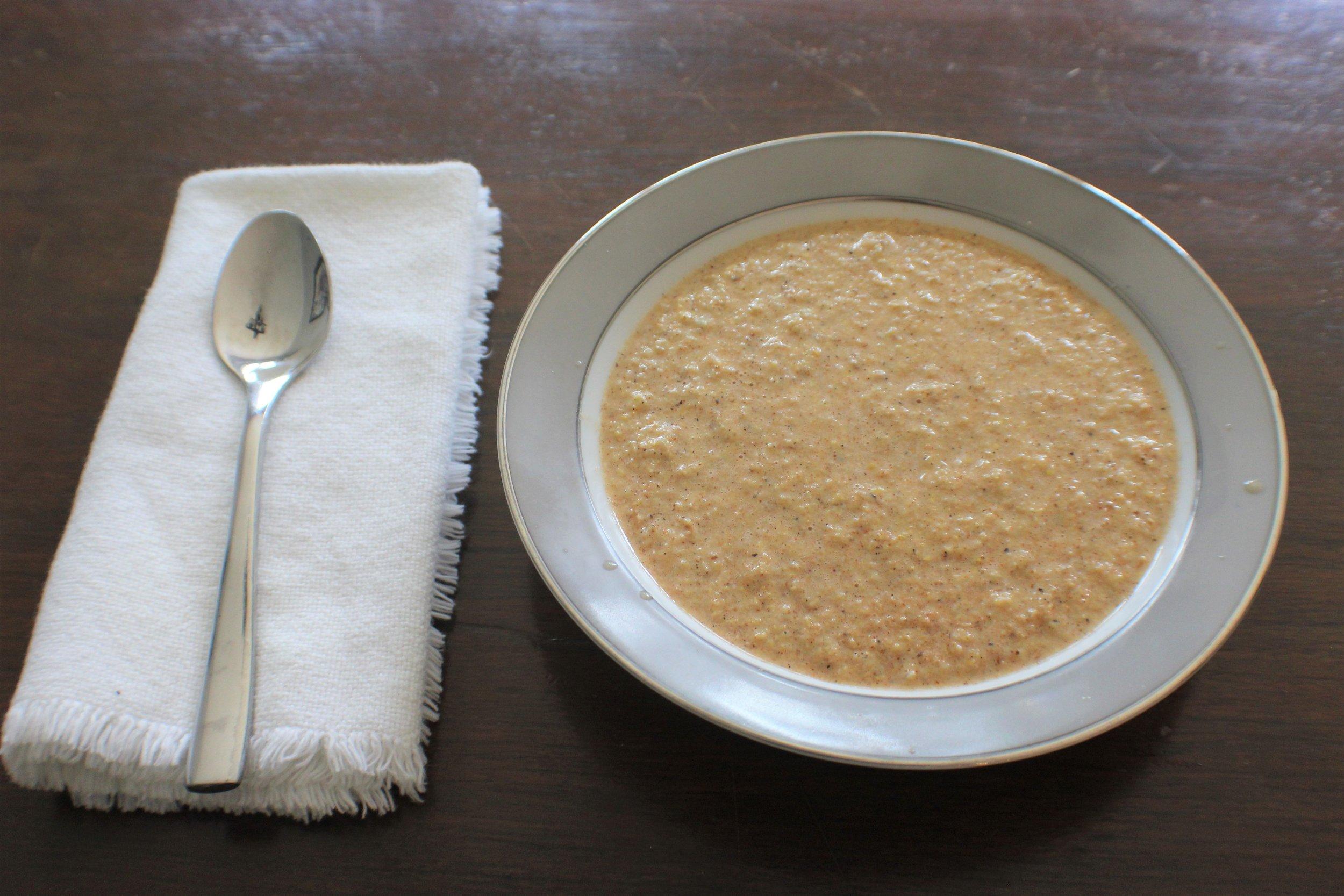 roasted corn soup served.JPG
