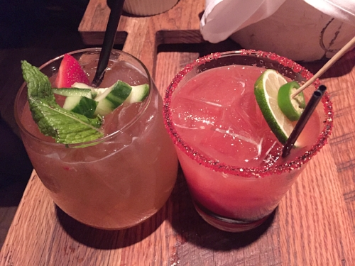 (left) Strawberry Mojito, Diablo (right)