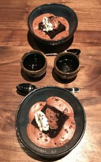Chocolate Mousse Cake & Sparkling Sake