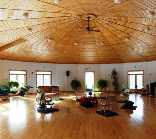 The yoga space at the Christine Center in Wisconsin.