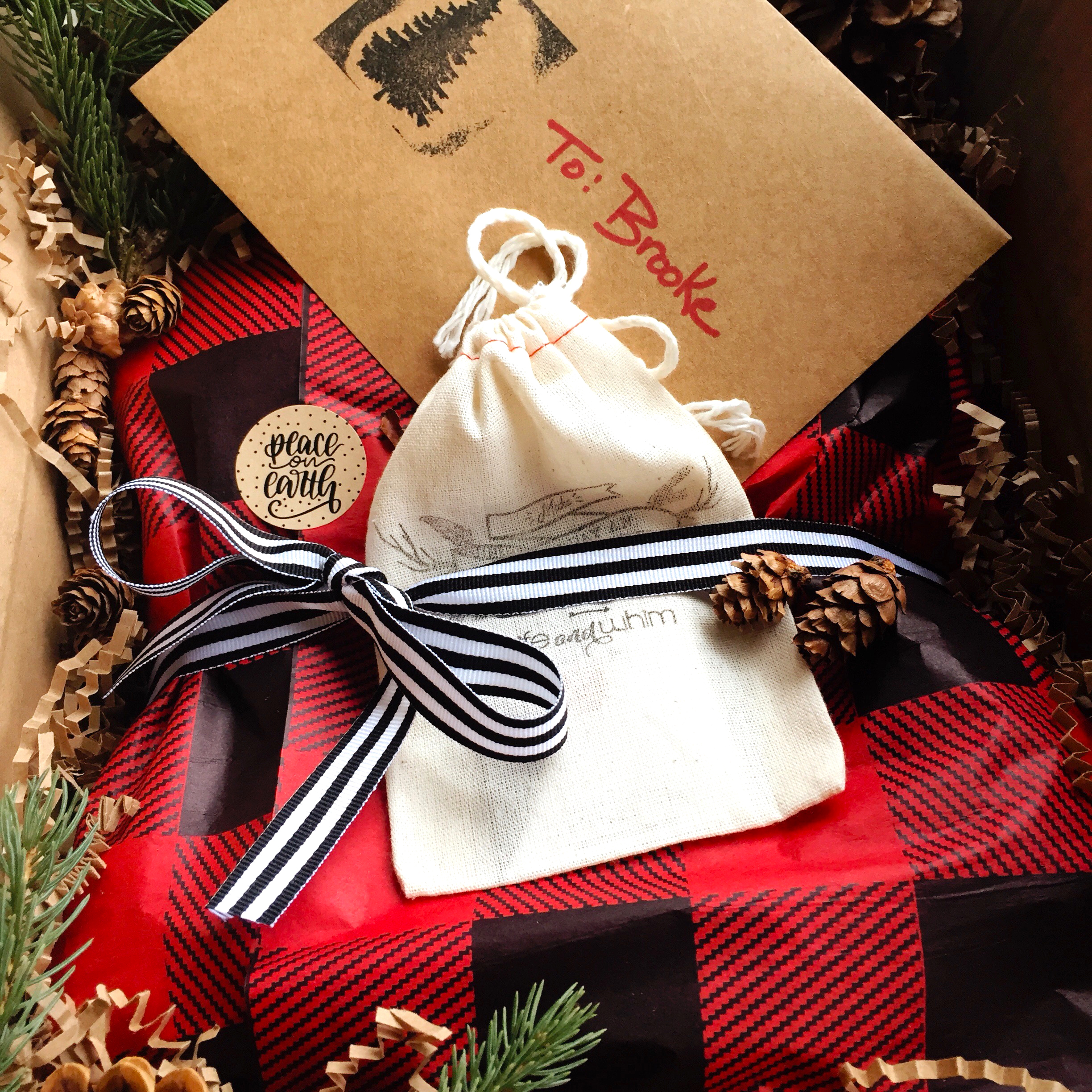 FREE Gift Wrapping - Each online purchase comes wrapped for free in our up-north style, plus you can personalize your gift with a custom note!