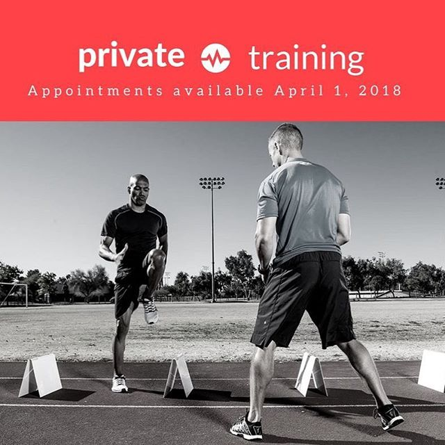 One-on-One Private Training Sessions: Available April 1, 2018.