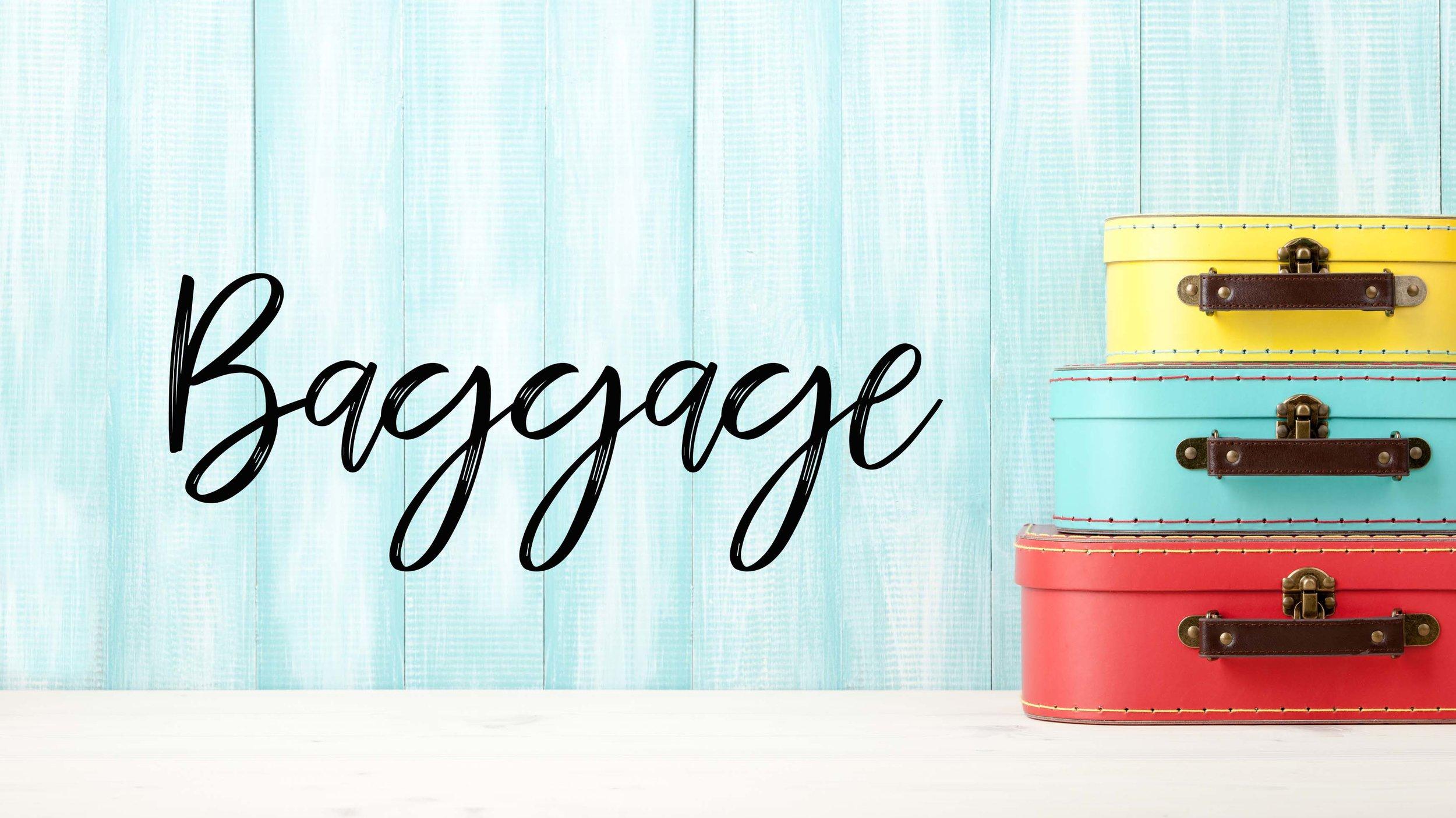 Luggage, baggage, family travel baggage