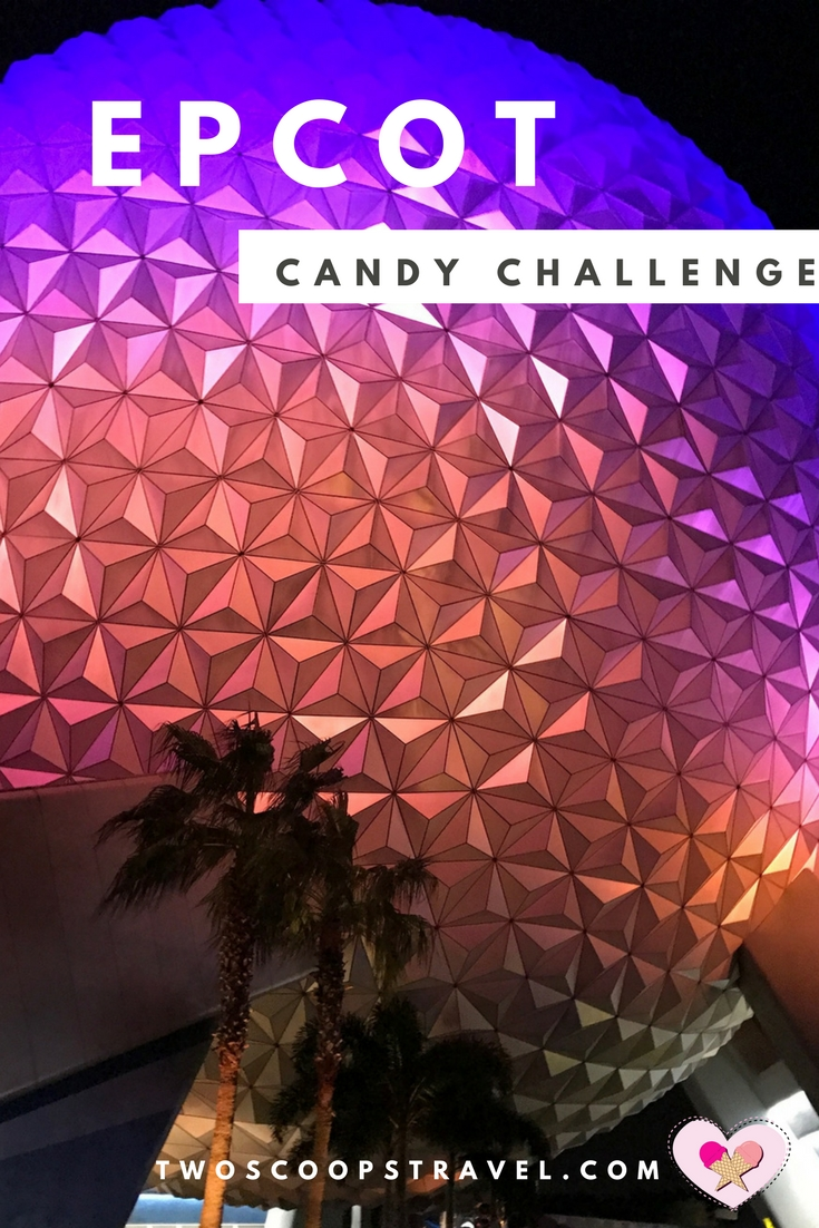 Two Scoops Travel recommends EPCOT Candy Challenge