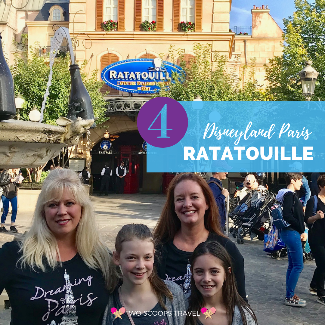 4th best ride at Disneyland Paris - Ratatouille - by Two Scoops Travel
