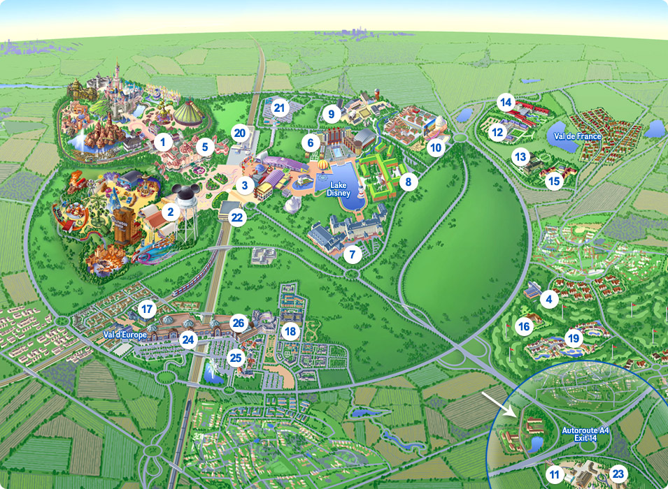 interactive map - by DLPGuide