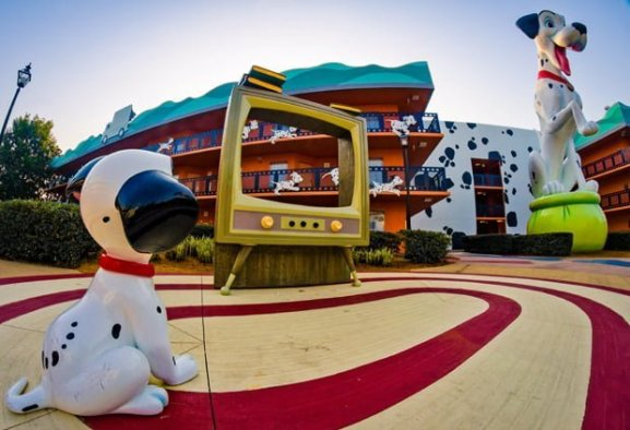 Disney's All-Stars Movie Resort - Imagine yourself sharing the spotlight with some of your favorite Disney friends, as you headline your very own all-star adventure. Stay at a Disney Resort hotel that salutes the legends of Disney films—from the dotted pups of 101 Dalmatians to the playful toys of Andy's Room— with whimsical, larger-than-life décor.