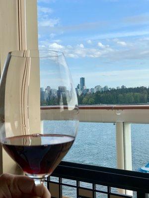 Wine and Sea on Veranda of NCL Joy