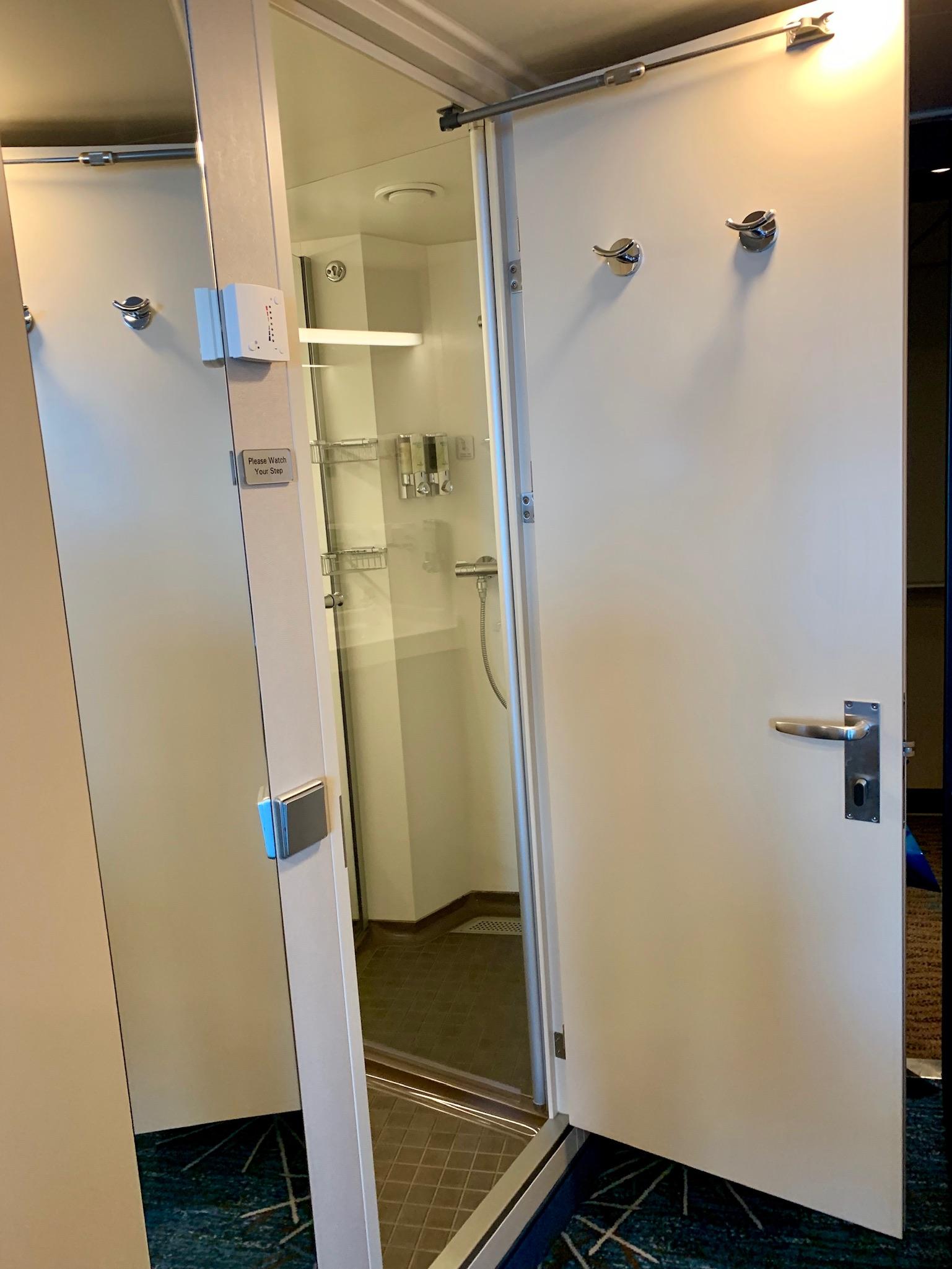NCL Joy Midship Balcony Room Bathroom