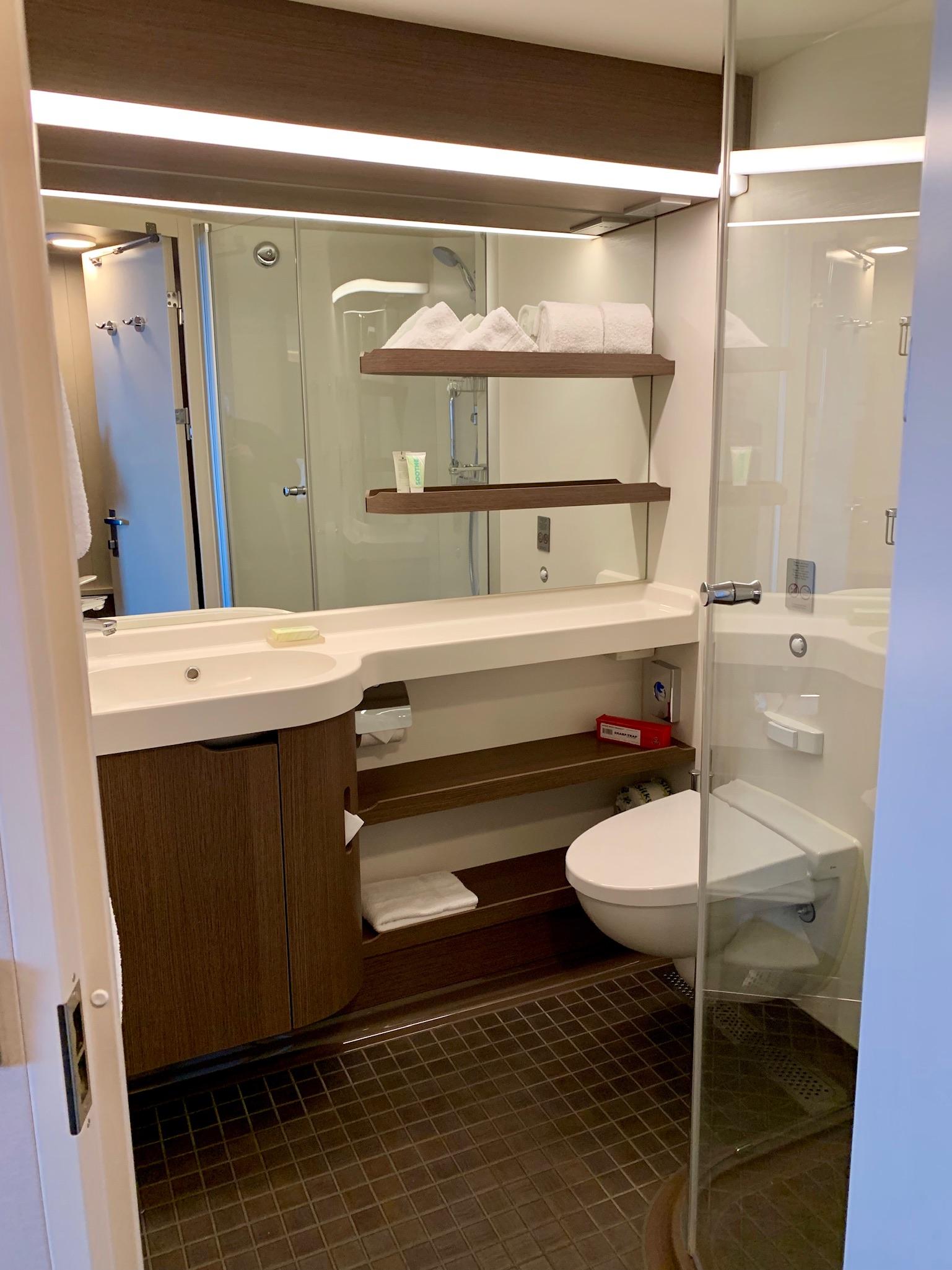NCL Joy Midship Balcony Bathroom