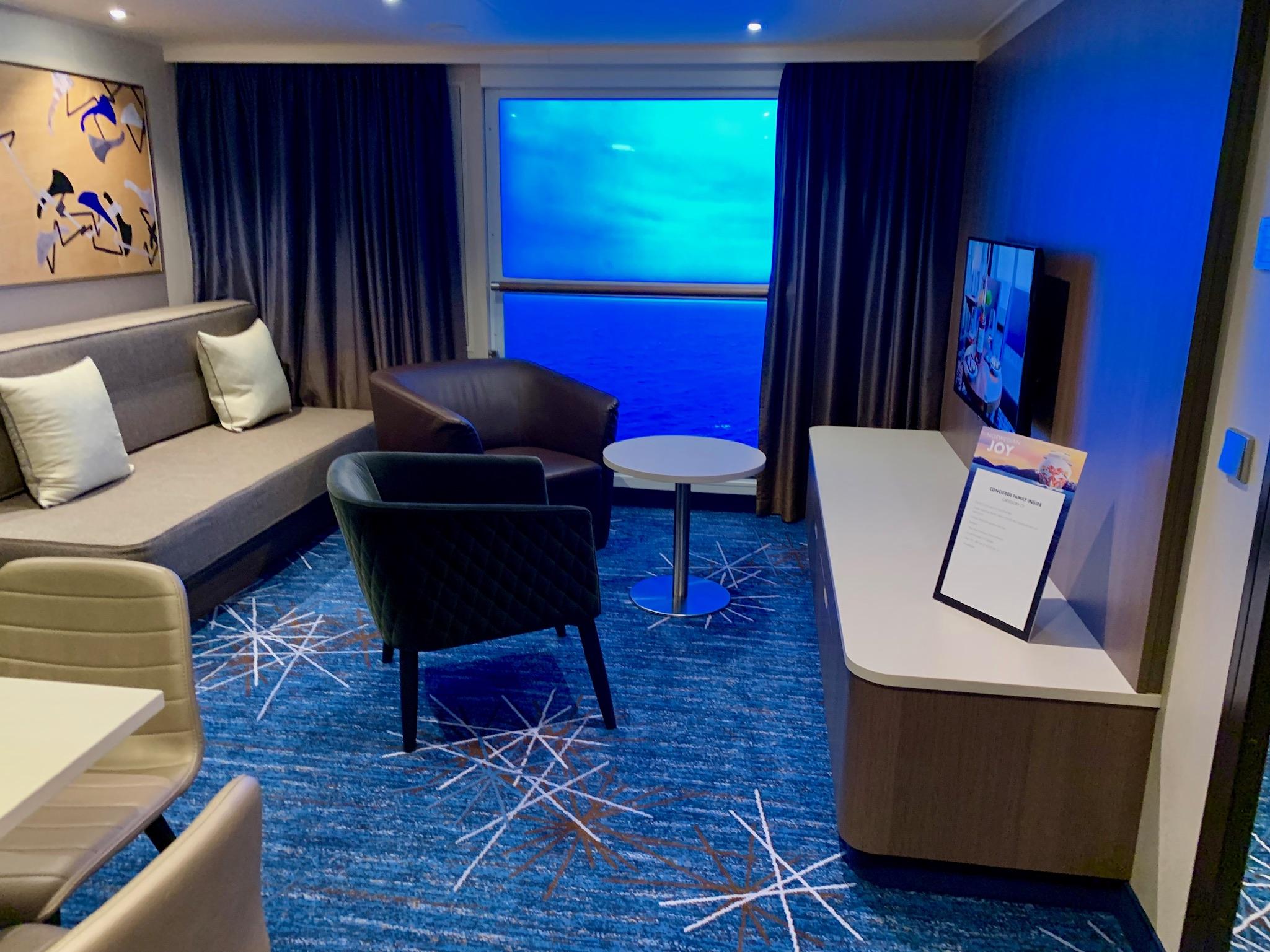 NCL Joy Concierge Family Suite Living Room