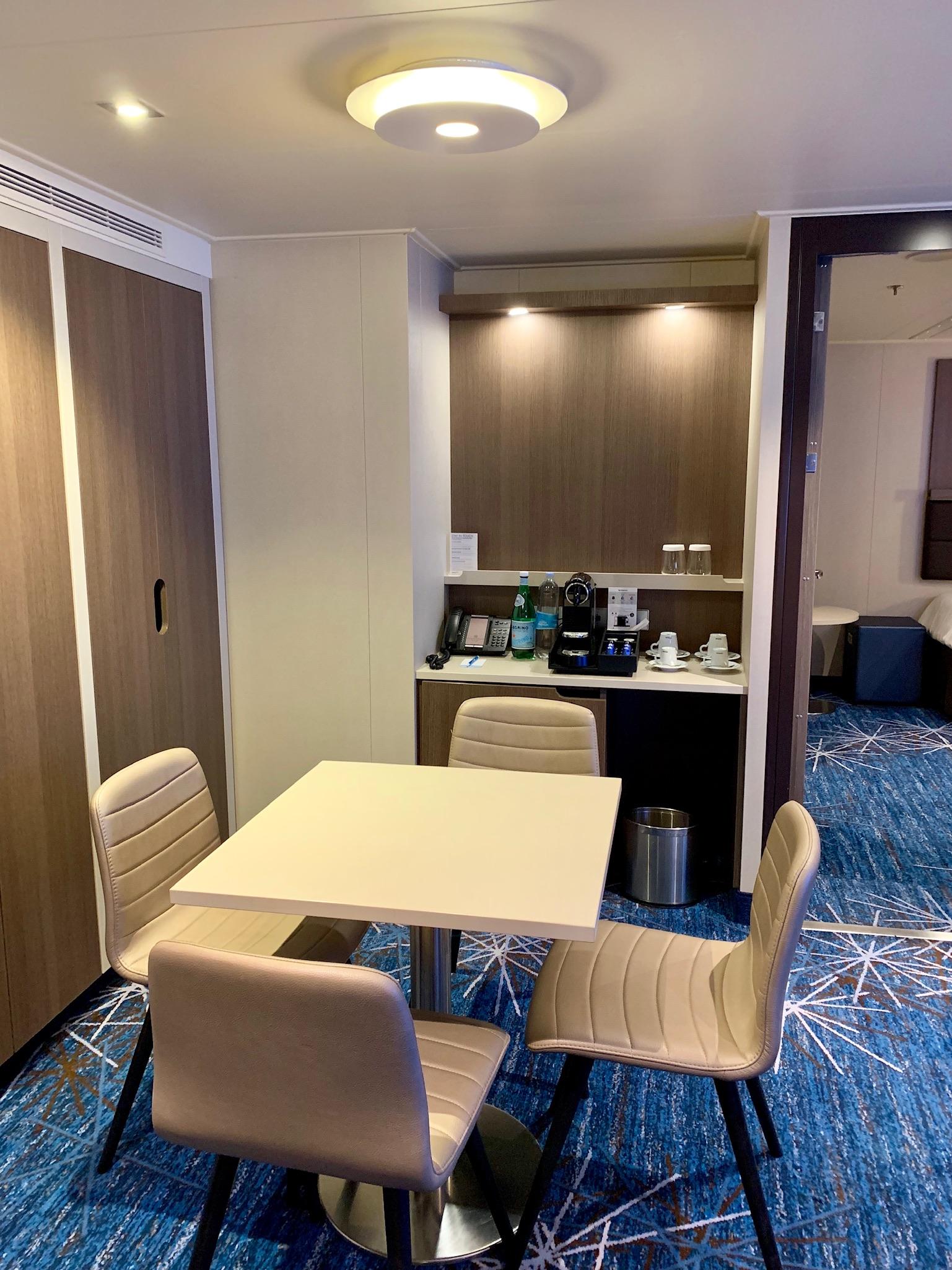NCL Joy Concierge Family Suite Dining Space