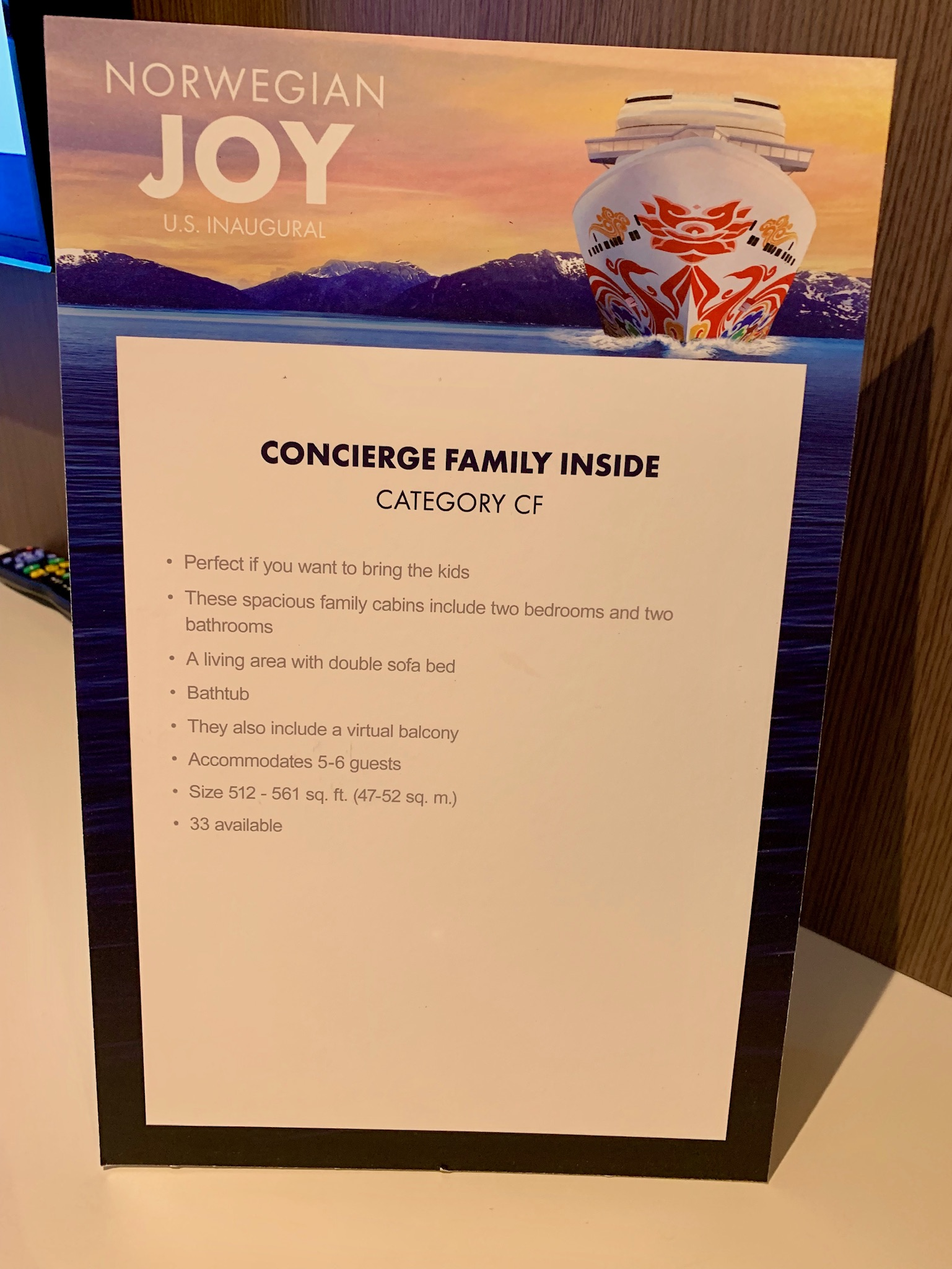 NCL Joy Concierge Family Suite