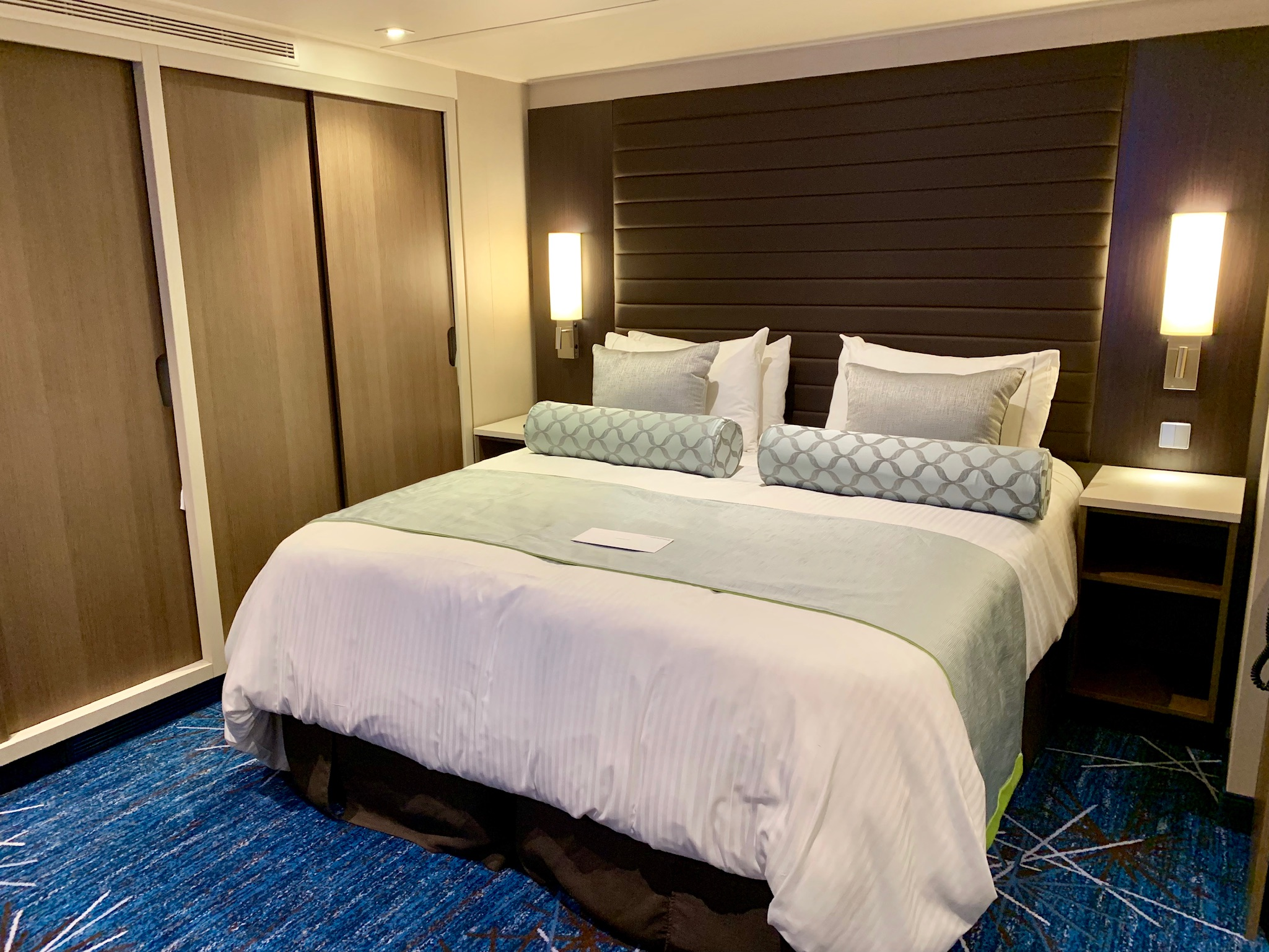 NCL Joy Concierge Family Suite Master Bedroom