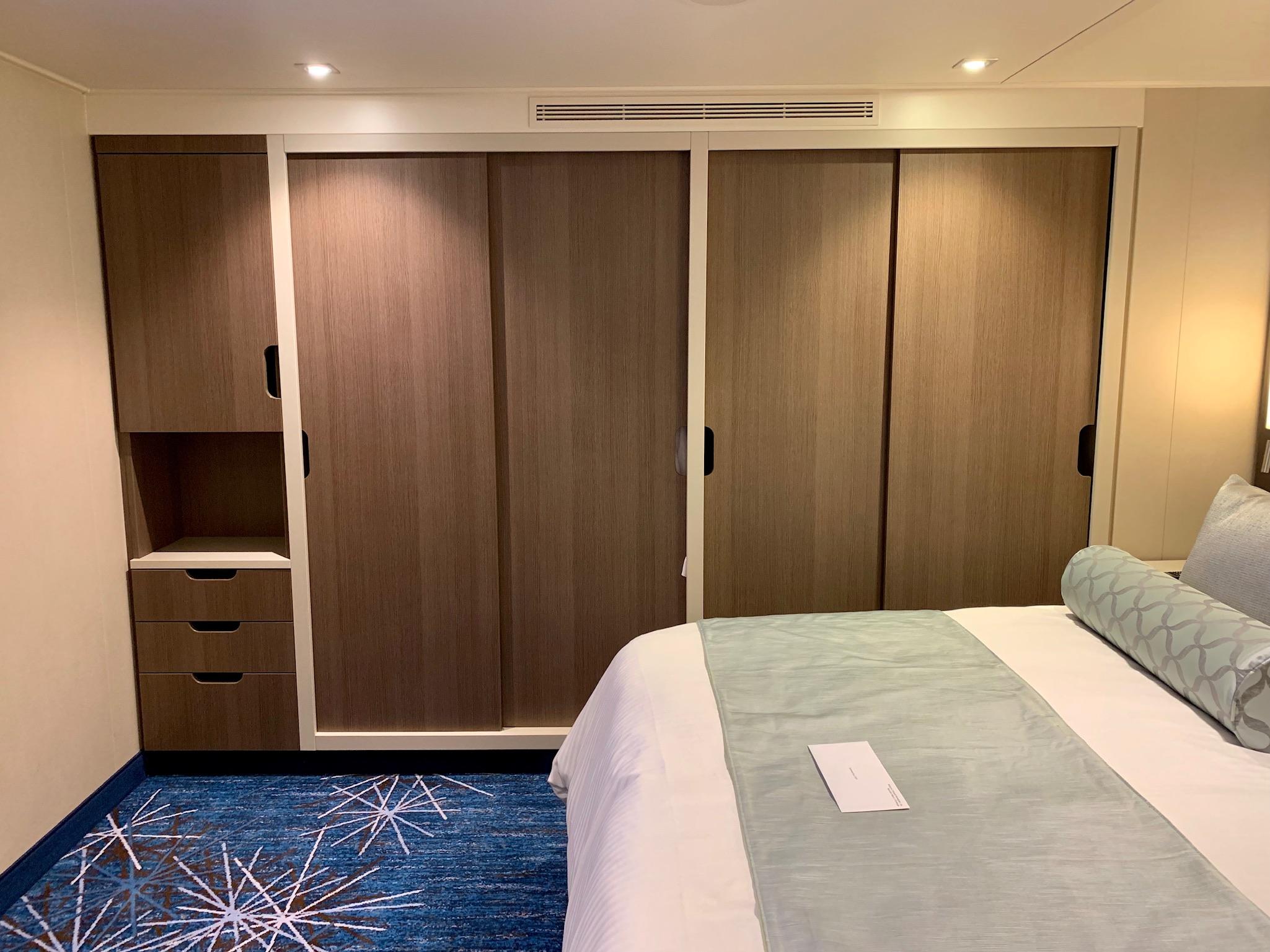 NCL Joy Concierge Family Suite closet