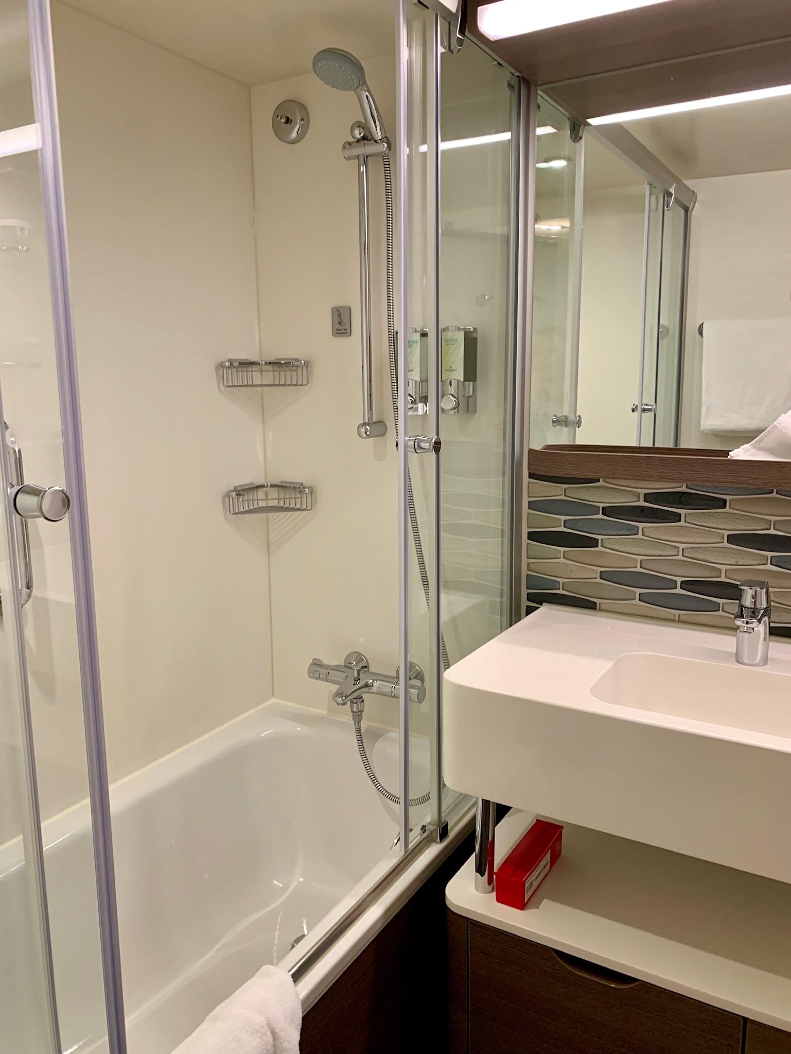 NCL Joy Concierge Family Suite Master Bath