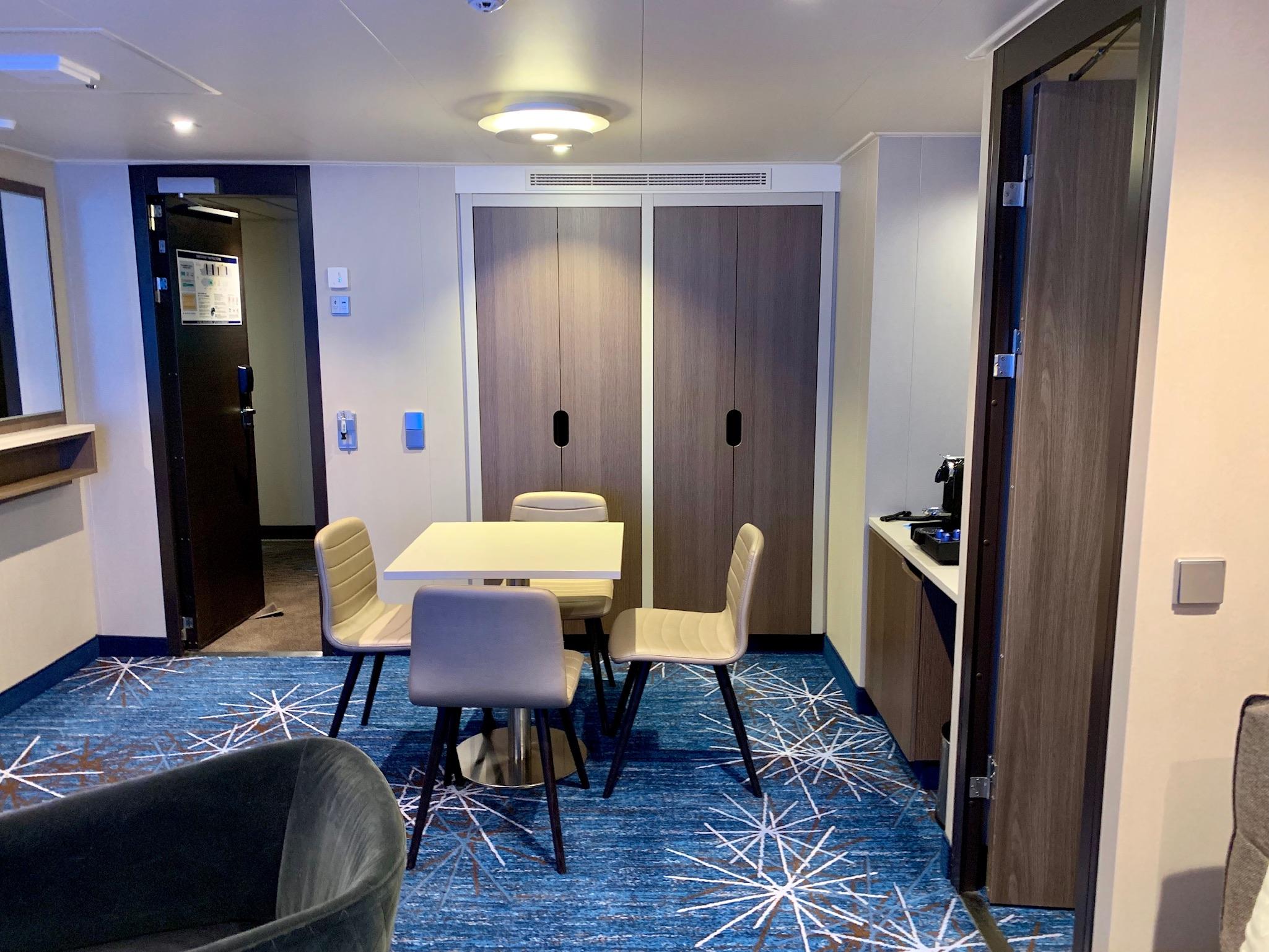 NCL Joy Concierge Family Suite Living Space