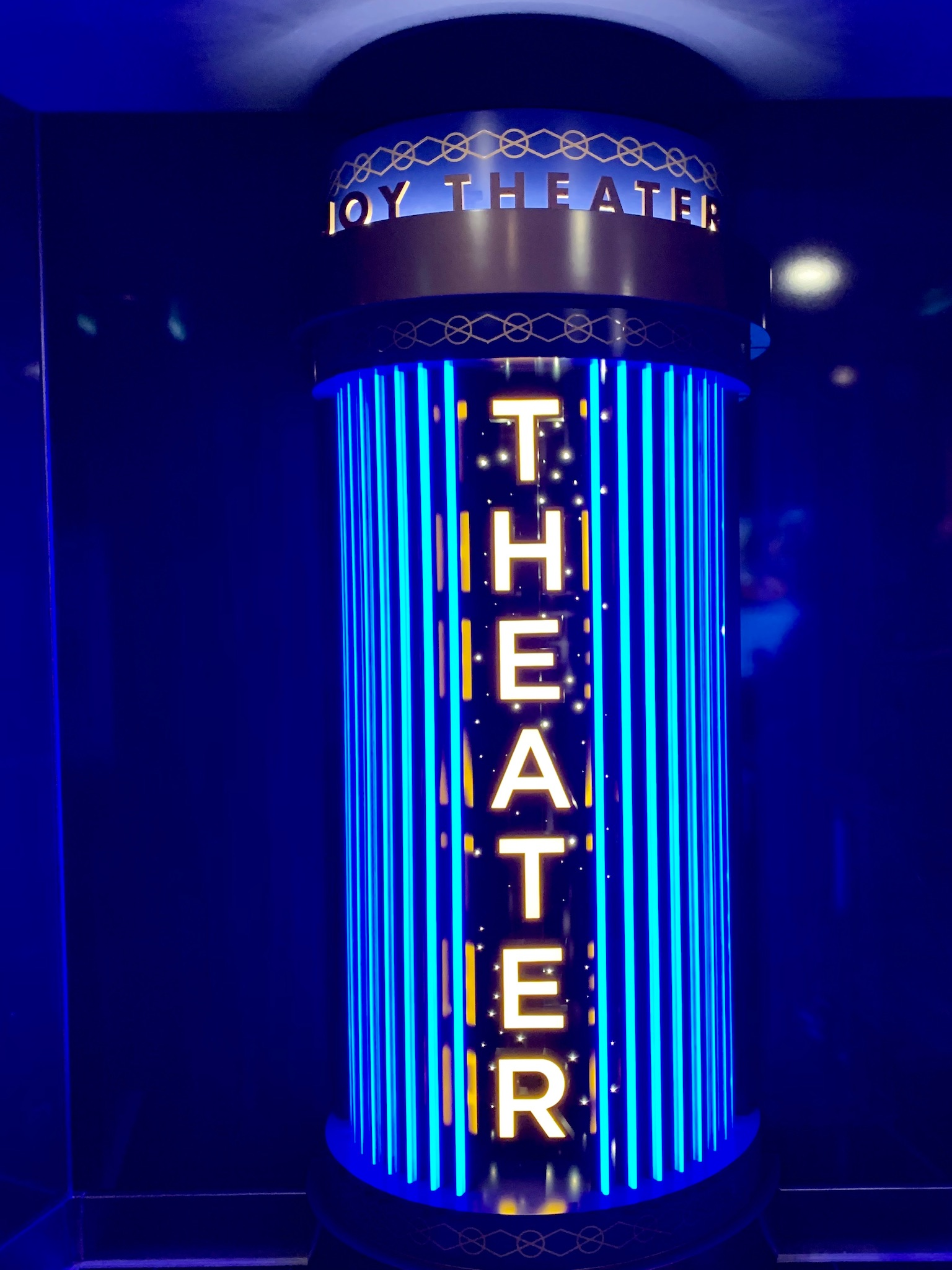 NCL Joy Concierge Theater Footloose Sign