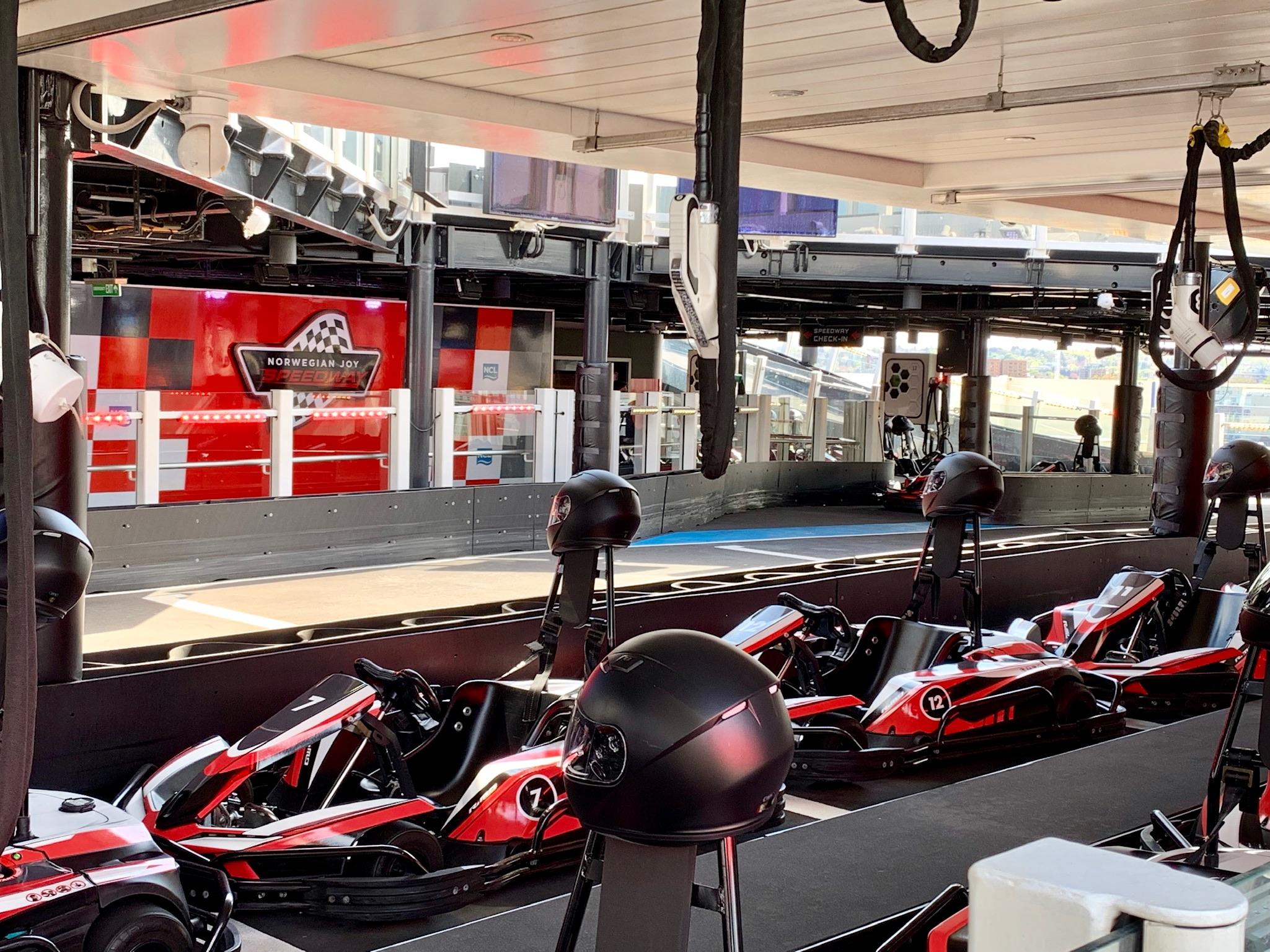 NCL Joy Speedway Car Holding Area