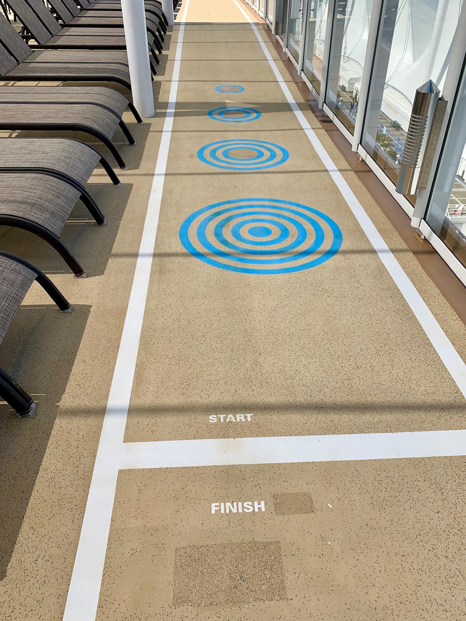 NCL Joy Pool Deck Walking track