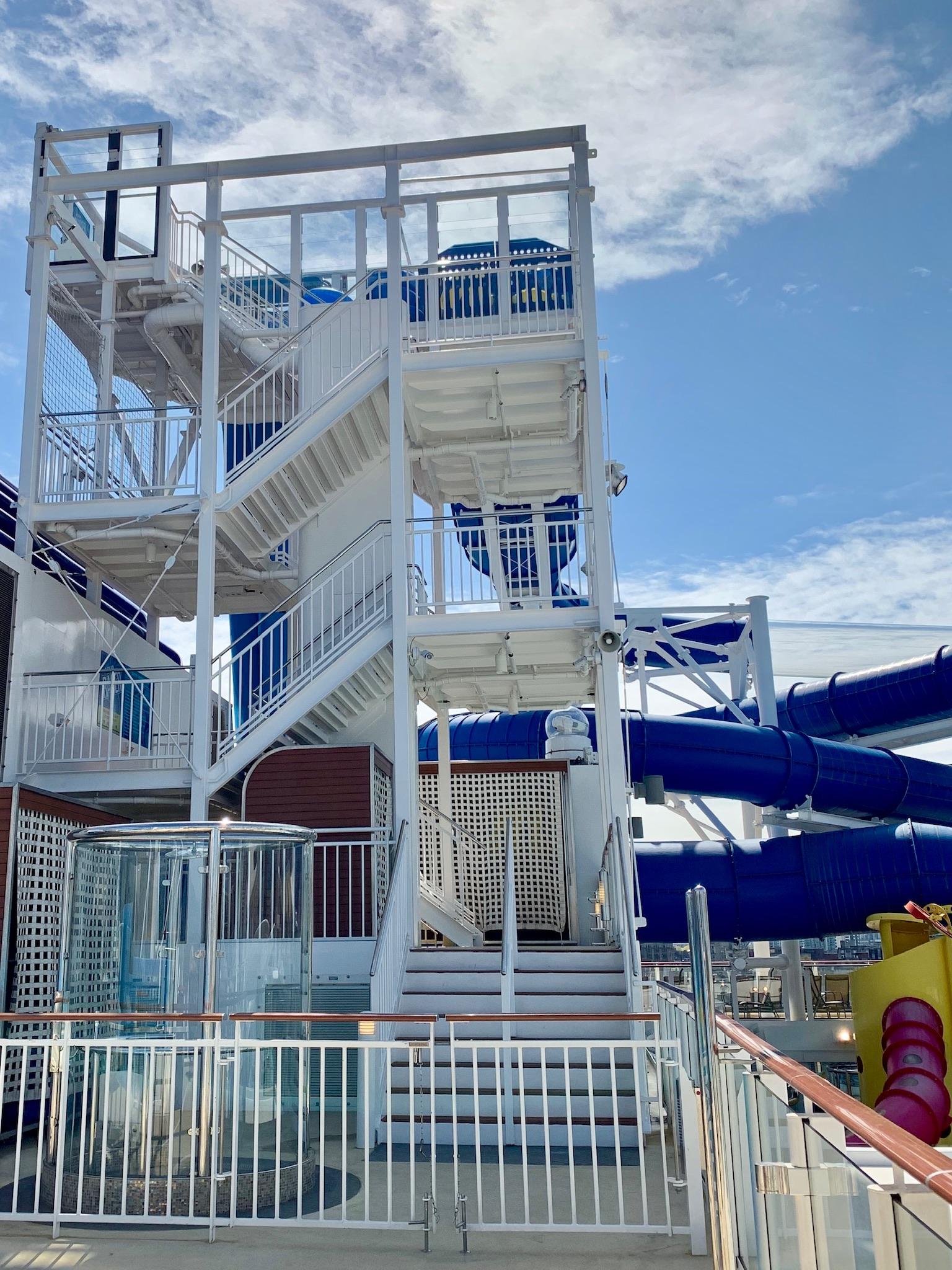 NCL Joy Pool Deck Water Park Slide