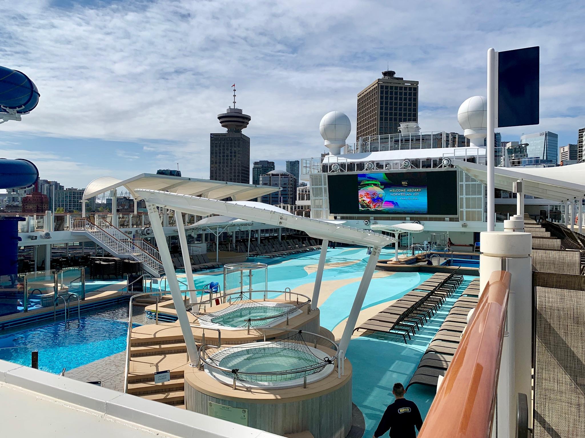NCL Joy Pool Deck View