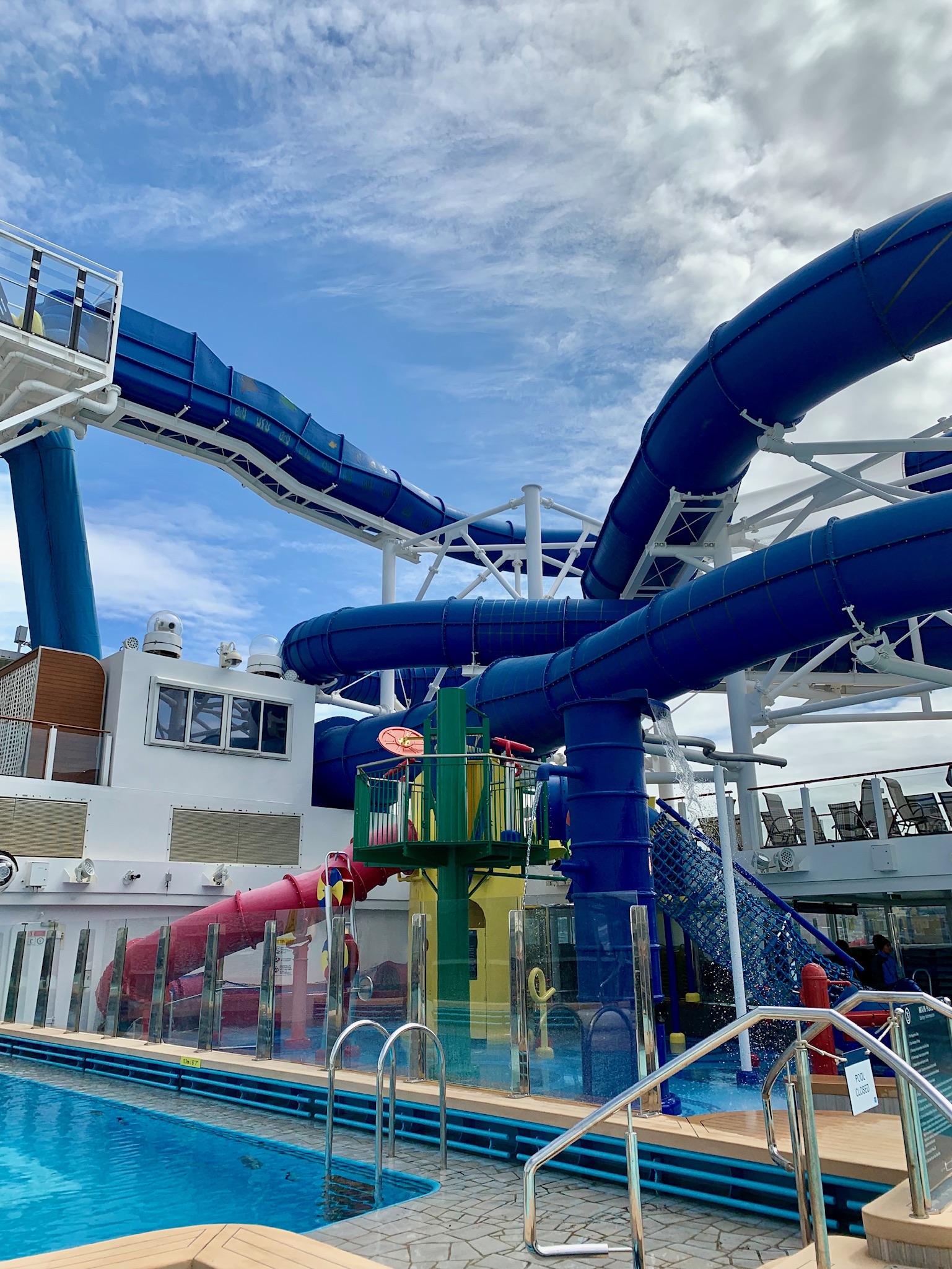 NCL Joy Pool Deck Water Park Slide View 2
