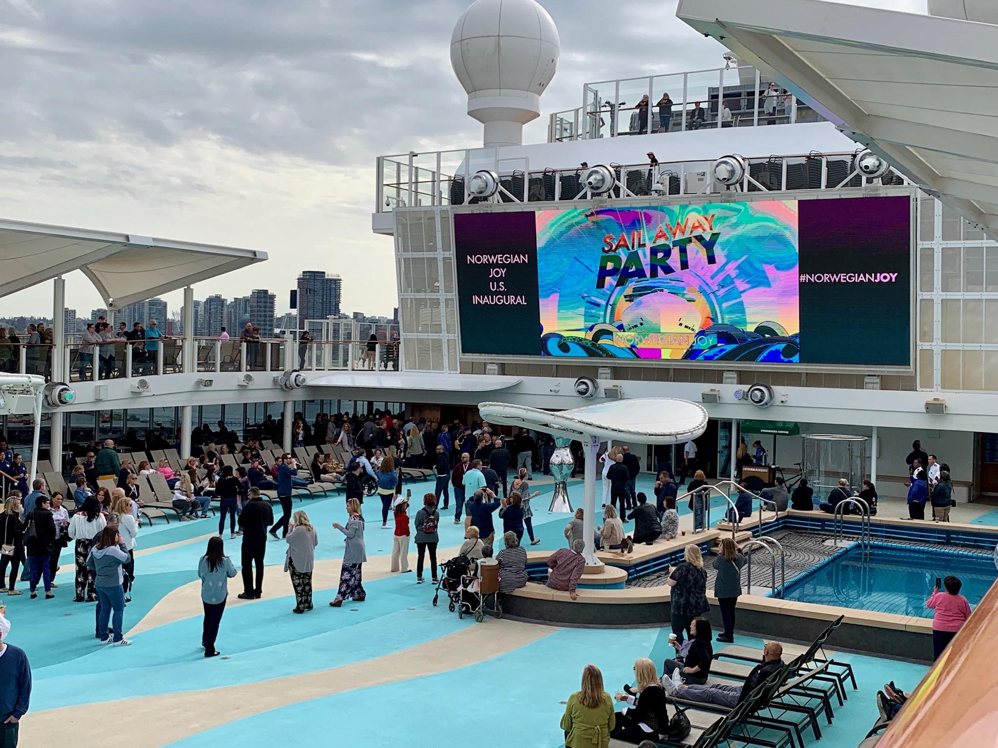 NCL Joy Pool Deck Big Screen