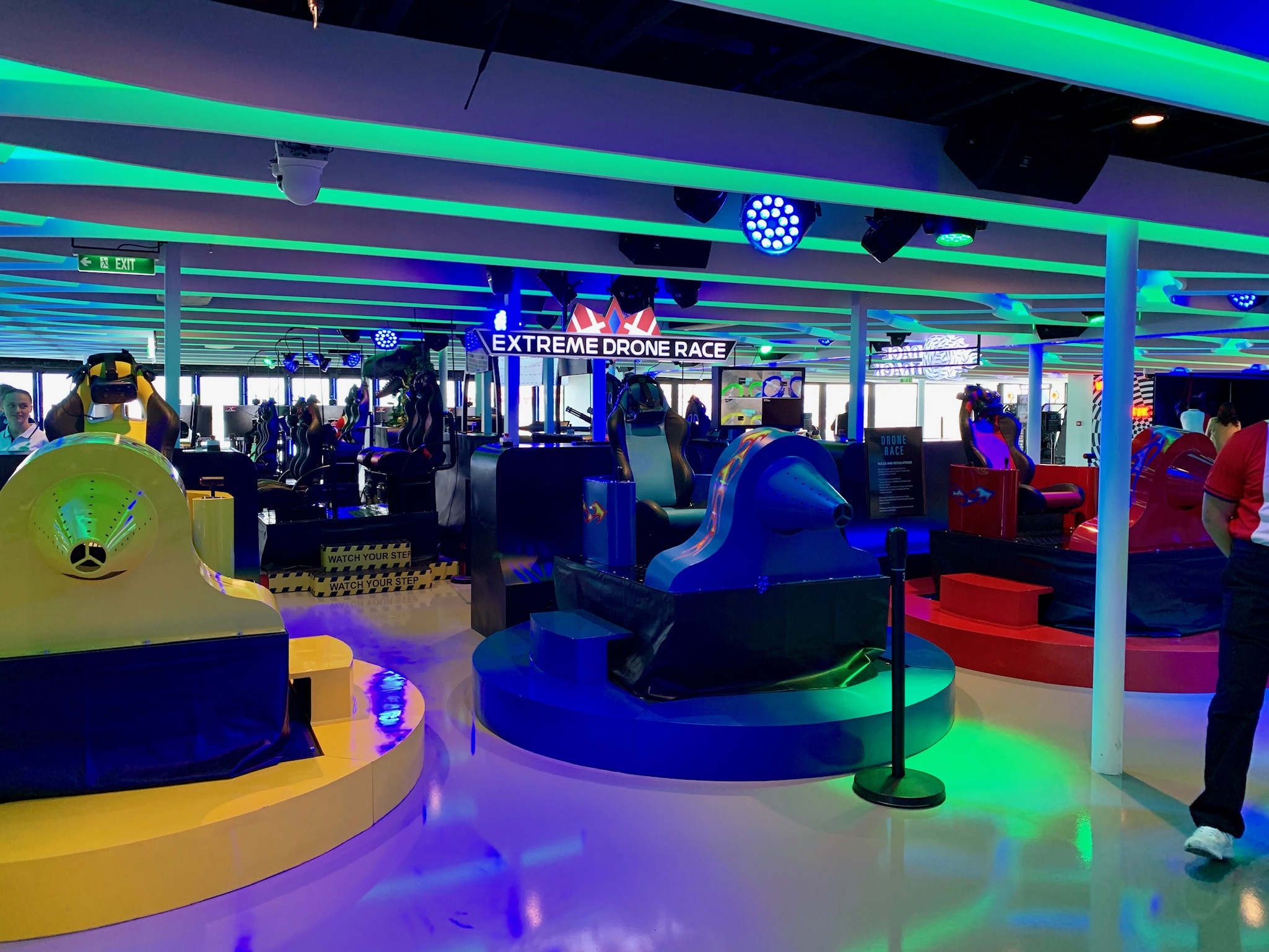 NCL Joy Galaxy Pavilion VR Machines