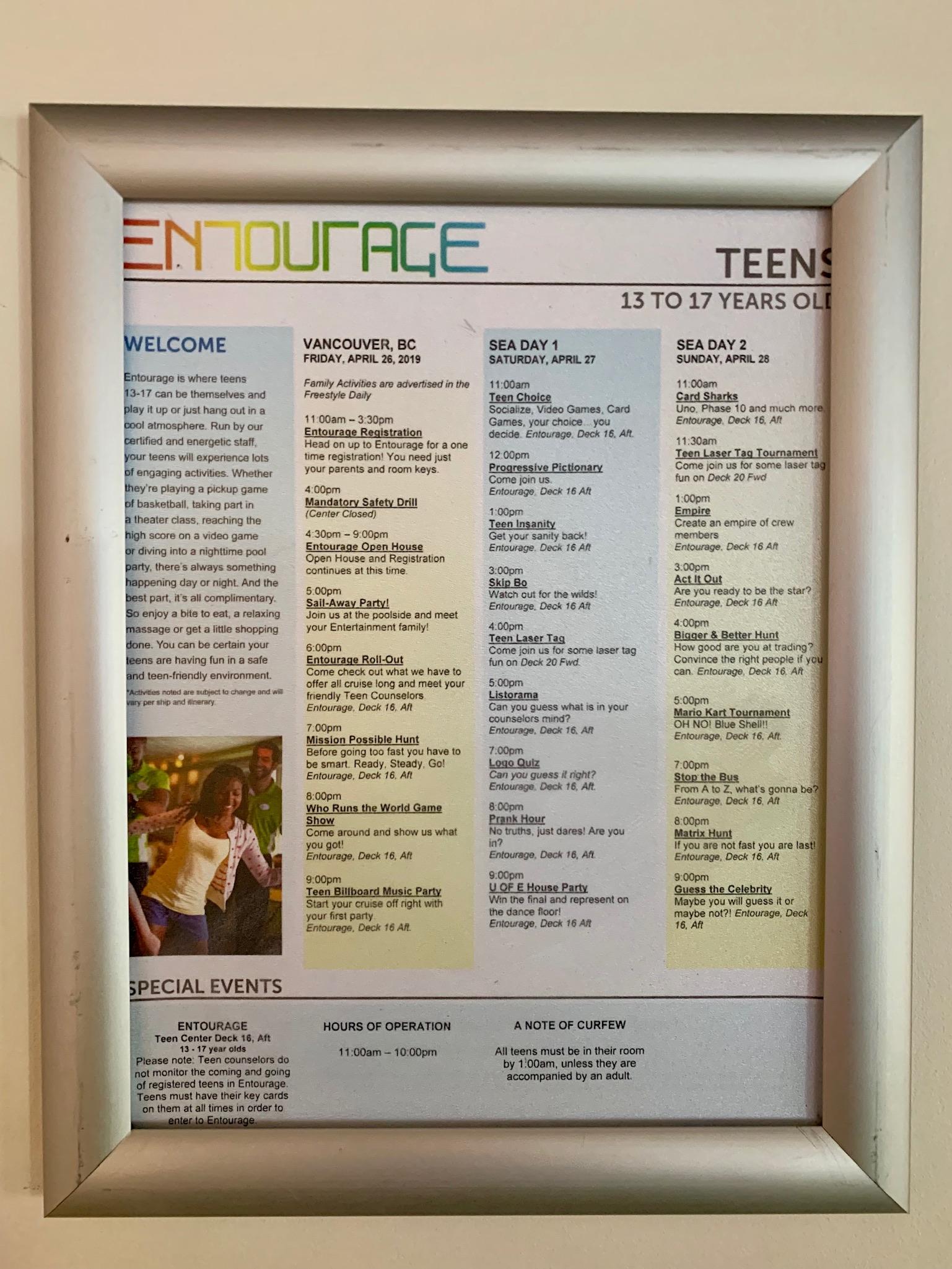 NCL Joy Galaxy Pavilion Teen Lounge Agenda