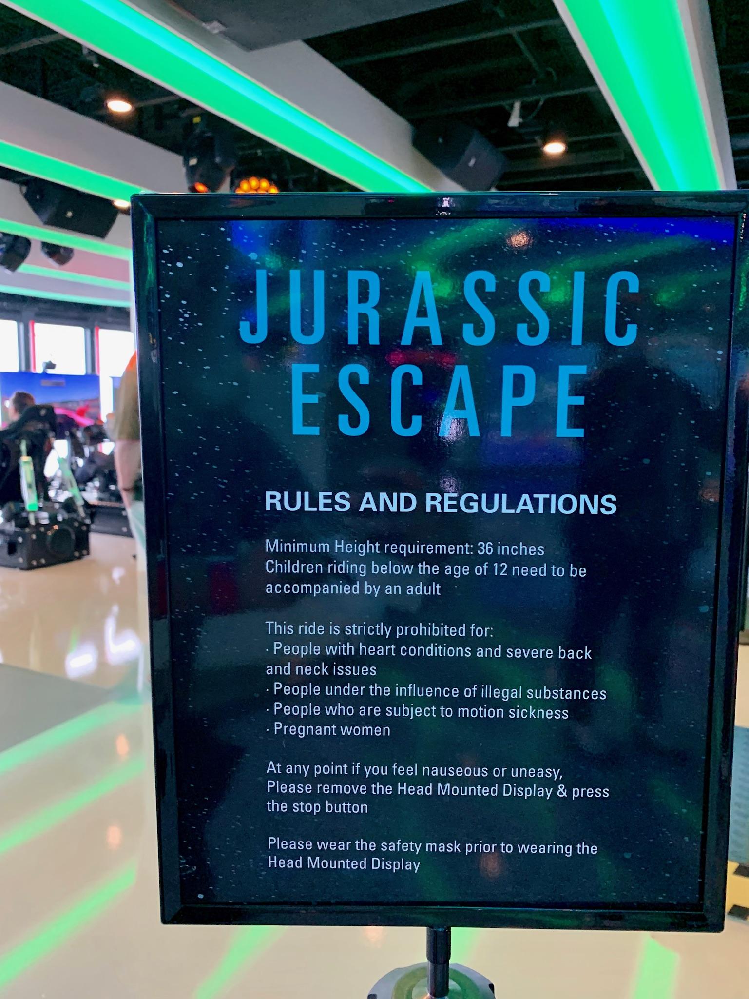 NCL Joy Galaxy Pavilion Jurassic Escape VR