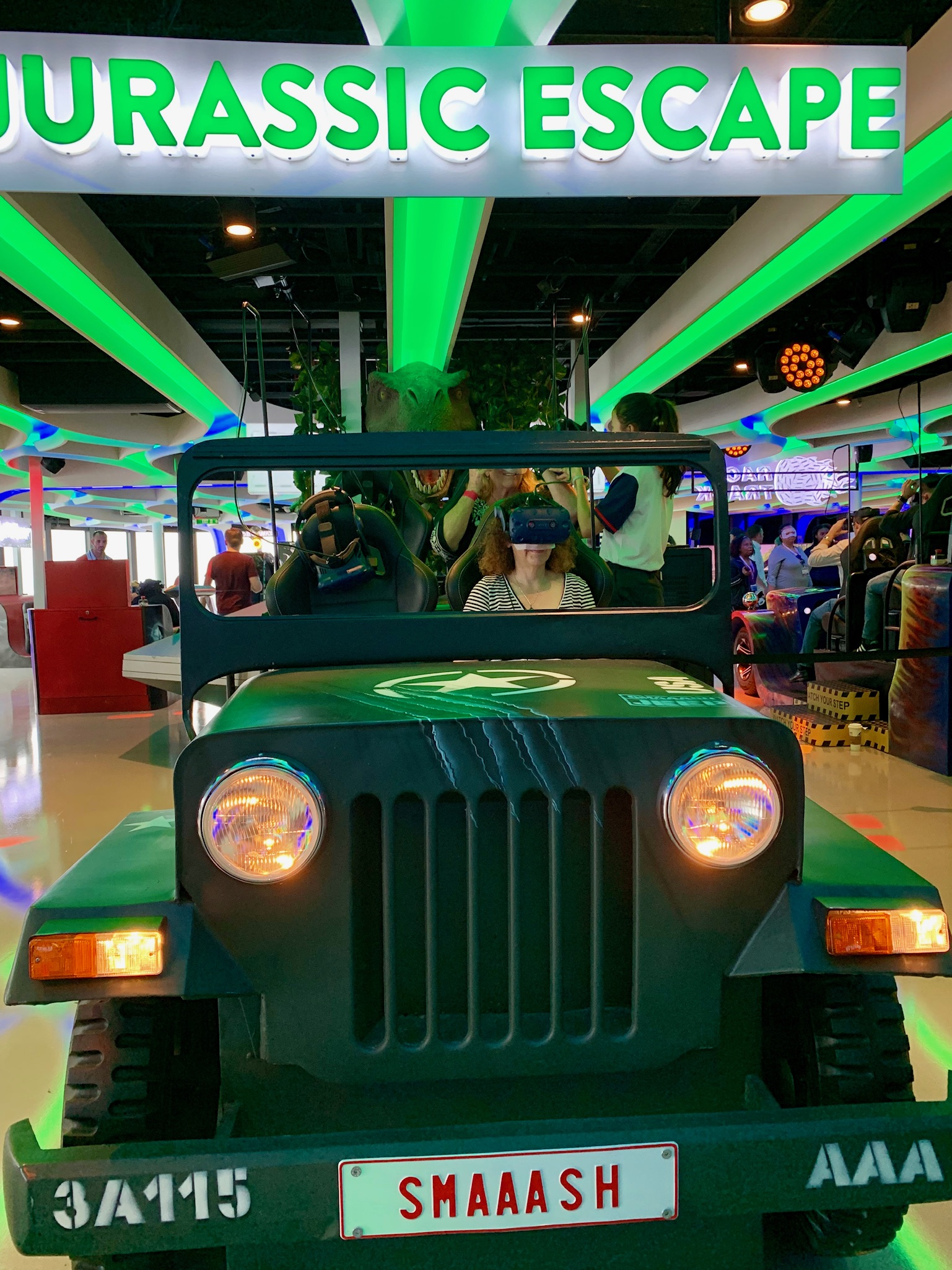 NCL Joy Galaxy Pavilion Jurassic Escape Vehicle