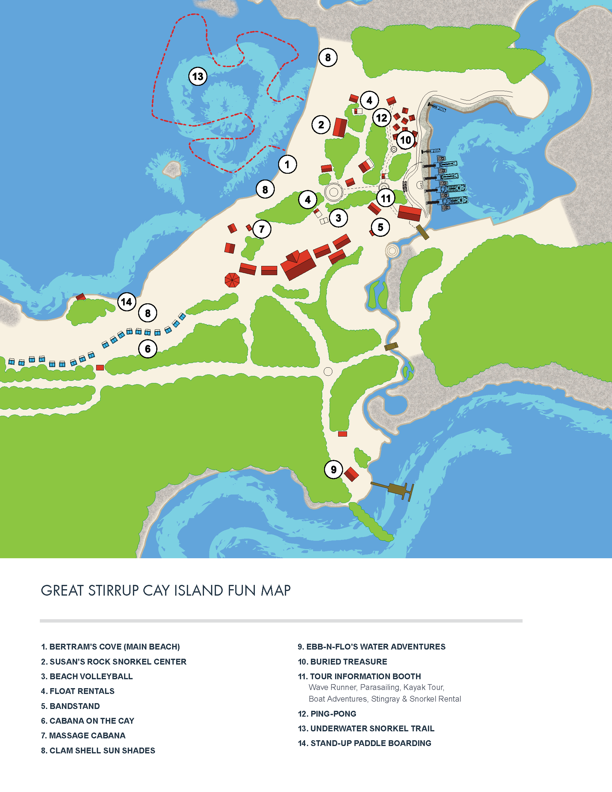 Map of Great Stirrup Cay (c) NCL
