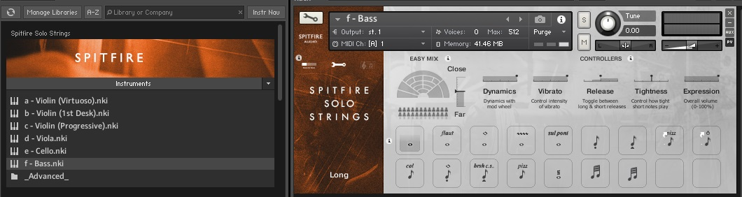 This library loads up through Native Access so it has it's own panel in the Library Tab of Kontakt, which is a welcome addition.