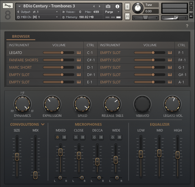 The Century Series interface is simple and clean.