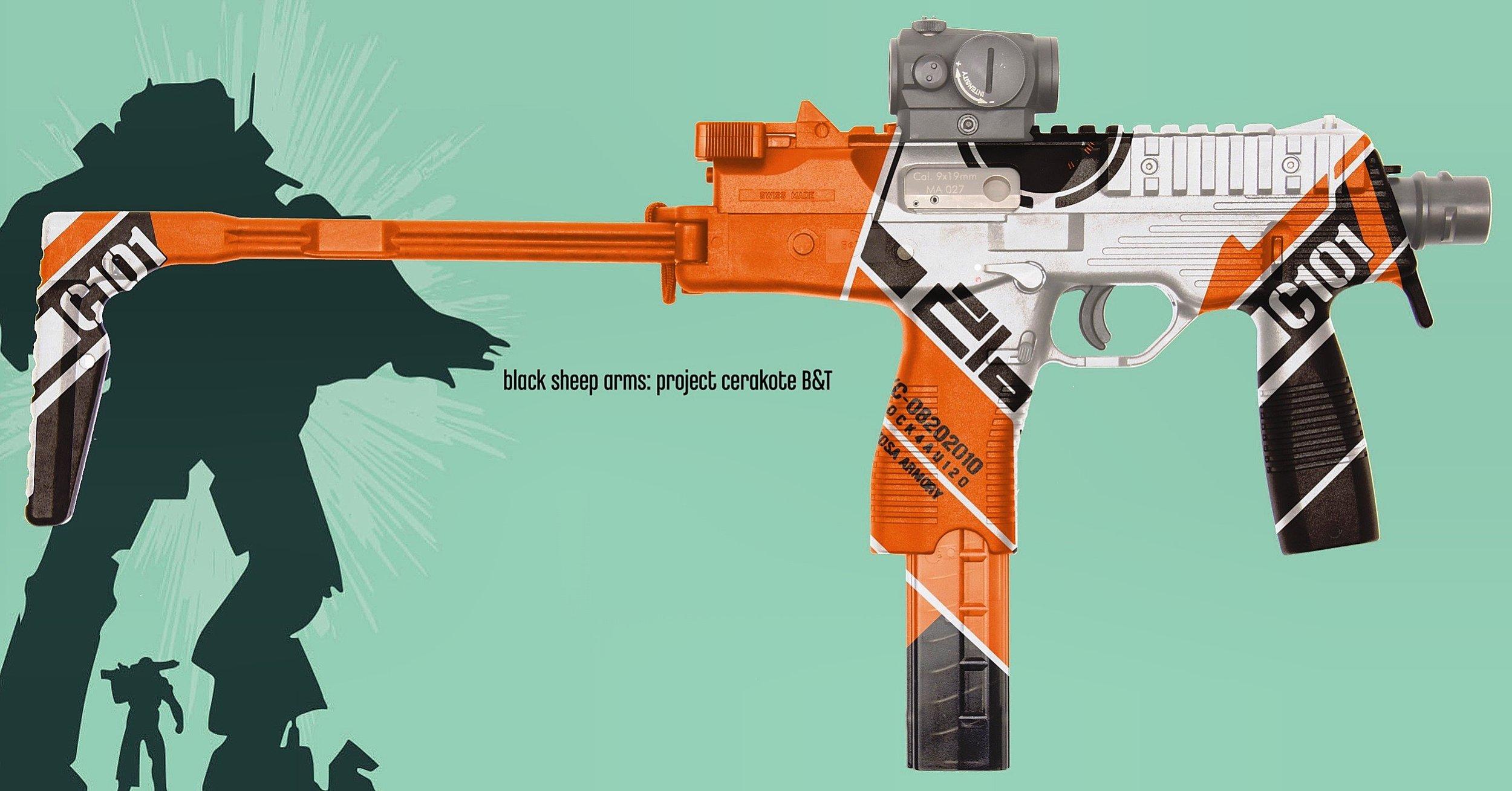 Gamer themed paint design.