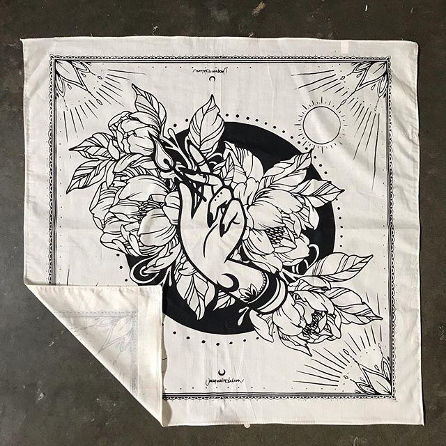 Printed these handkerchief for @jacquelindeleon a couple of weeks ago! #handprinted #handpulled #screenprint #screenprinting #sanjose #bayarea