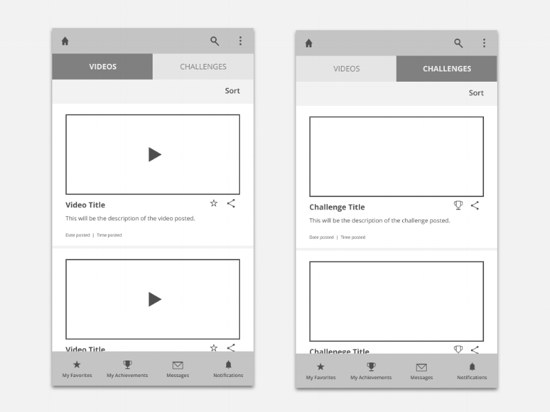 Mid-fi wireframe designed using Figma