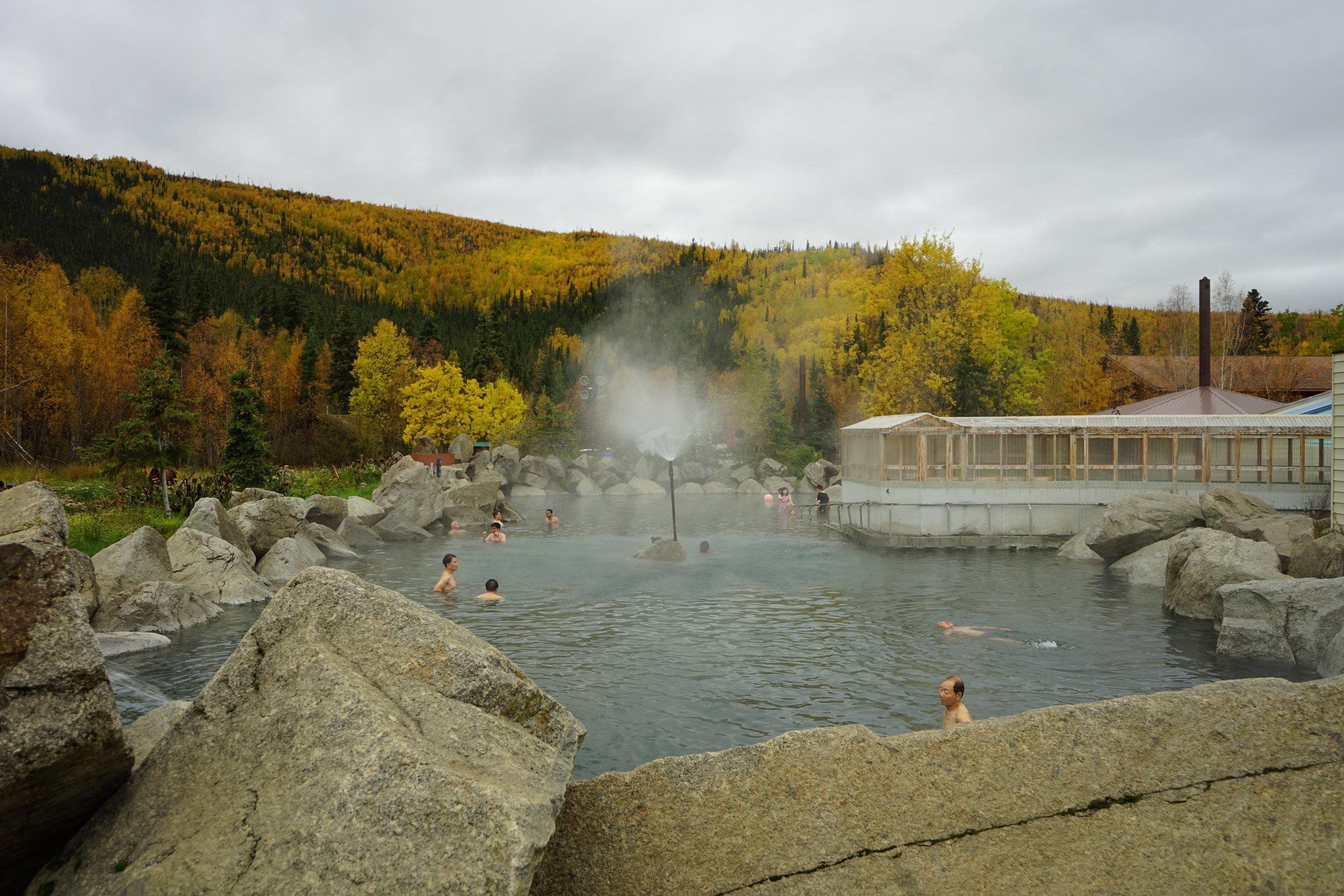 Chena Hot Springs pool.