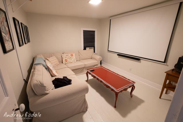 The Screening Room - Our Screening Room is equipped with a BenQ 1080p 3300 Lumens DLP Home Theater Video Projector and Samsung surround sound. A sectional sofa also provides added sleeping arrangements for large parties.