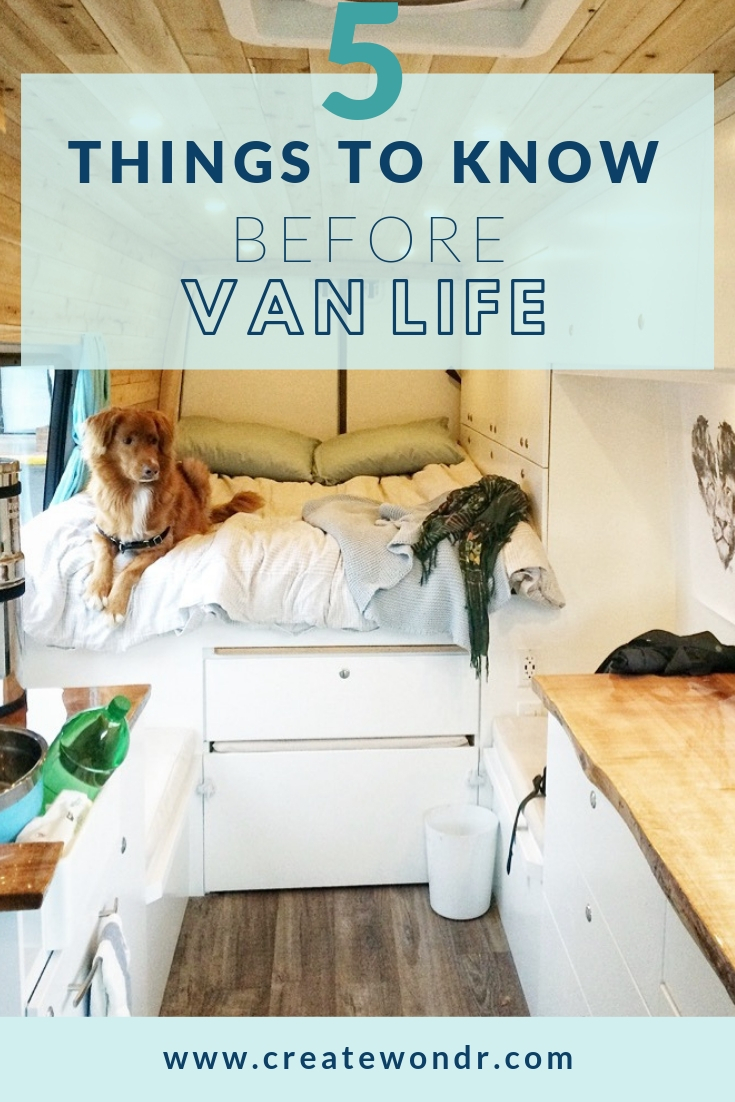 5 things to know before vanlife