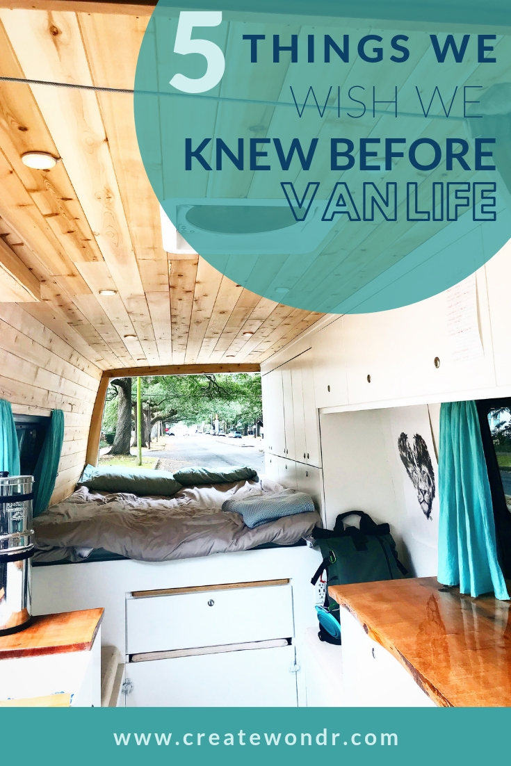 Top 5 things to know before vanlife