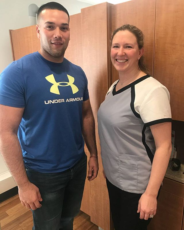 It's always a tremendous a pleasure to have Sgt Bonilla Vargas of the 1st Marine Logistics Group stop by for his cleaning with Kim, one of our awesome Dental Hygenists! ⭐⭐⭐ Sgt Vargas, the team at Dearfield Family Dentistry is so thankful for your service and we look forward to seeing you again soon! ⭐⭐⭐ . . . . . . #semperfi #marines #marine #sgt #dearfield #family #dentistry #dentists #dentist #teeth #smiles #smiling #smile #pearlywhites #pearlywhite #hygiene #sofreshandsoclean #mlg #teamworkmakesthedreamwork #greenwich #greenwichct #connecticut #USA #healthcare #featured #cleaning #hygienist #visit